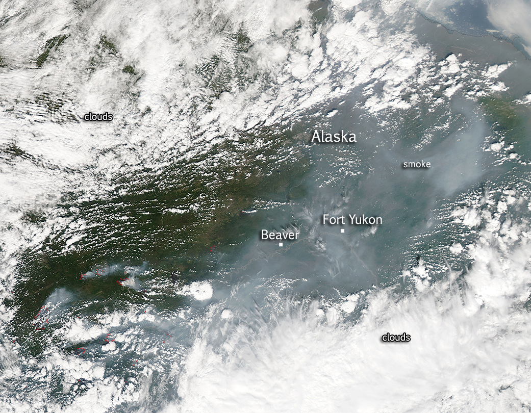 Dozens of Alaskan Wildfires Detected by NASA Satellite   NASA