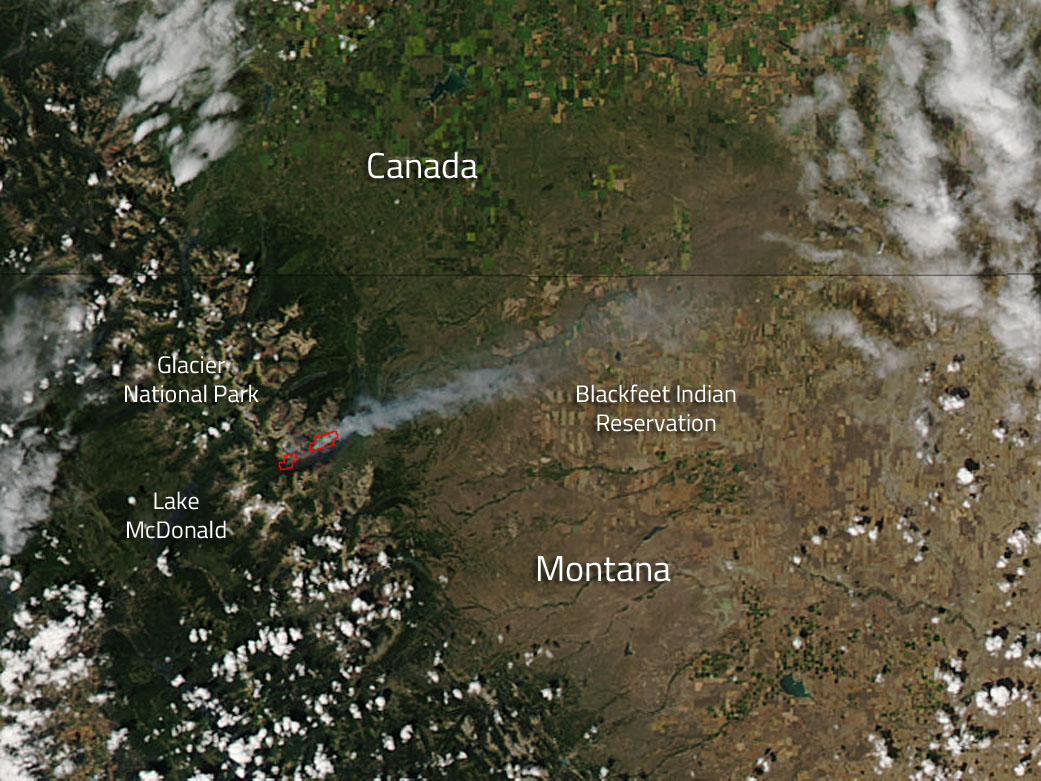 Reynolds Creek Fire Montana  NASA