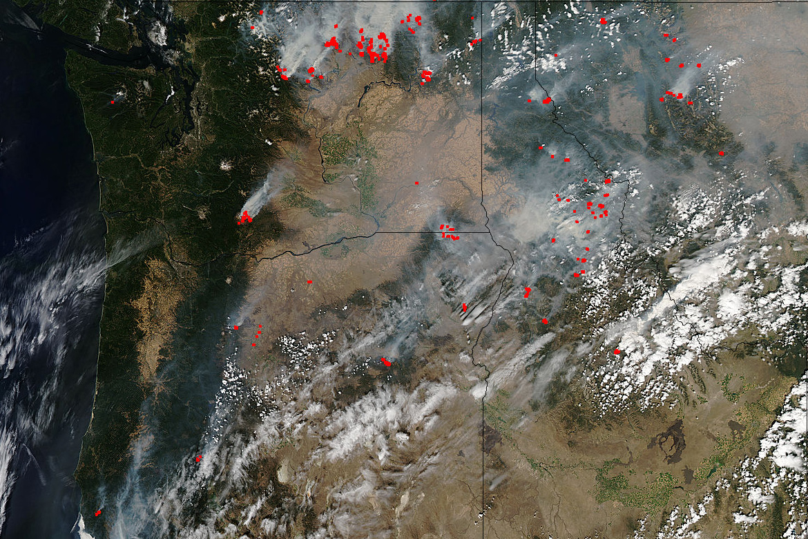 Pacific Northwest Wildfires Severe in Intensity NASA