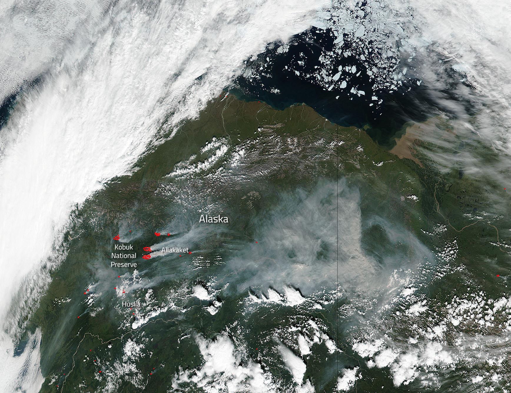 Alatna Wildfire Complex in Alaska   NASA