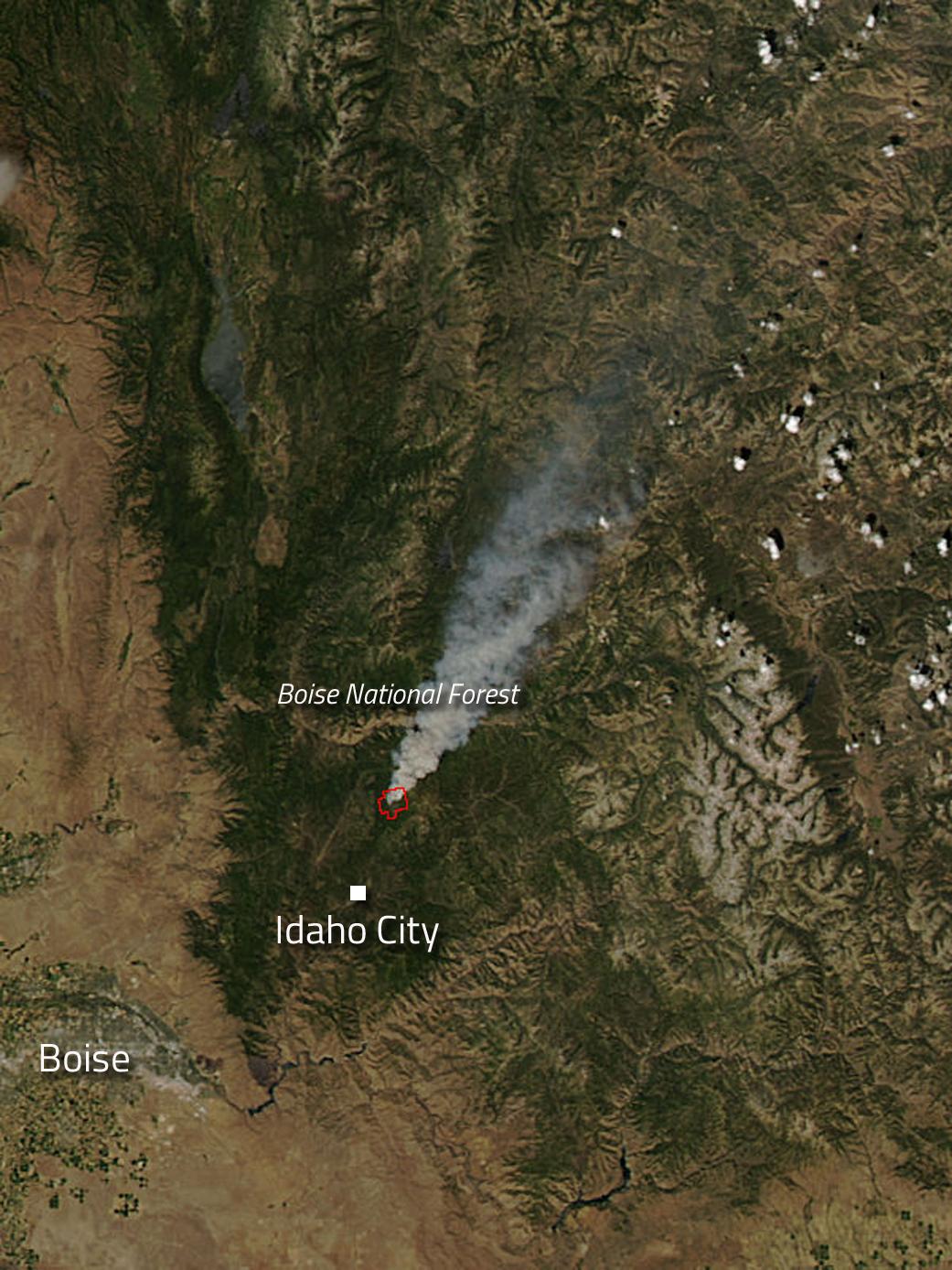 Pioneer Fire in Idaho | NASA on 2013 sun valley idaho map, idaho soils map, fires in idaho map, new mexico wildfire map, idaho wildfire updates, idaho wildfire report, idaho fire map 2013, idaho california map, idaho fires burning, wa wildfire map, soda fire idaho map, idaho snow map, idaho heat map, alberta wildfire map, idaho fire updates, united states wildfire map, idaho map with cities, idaho public health map, idaho volcanoes map, idaho flood map,