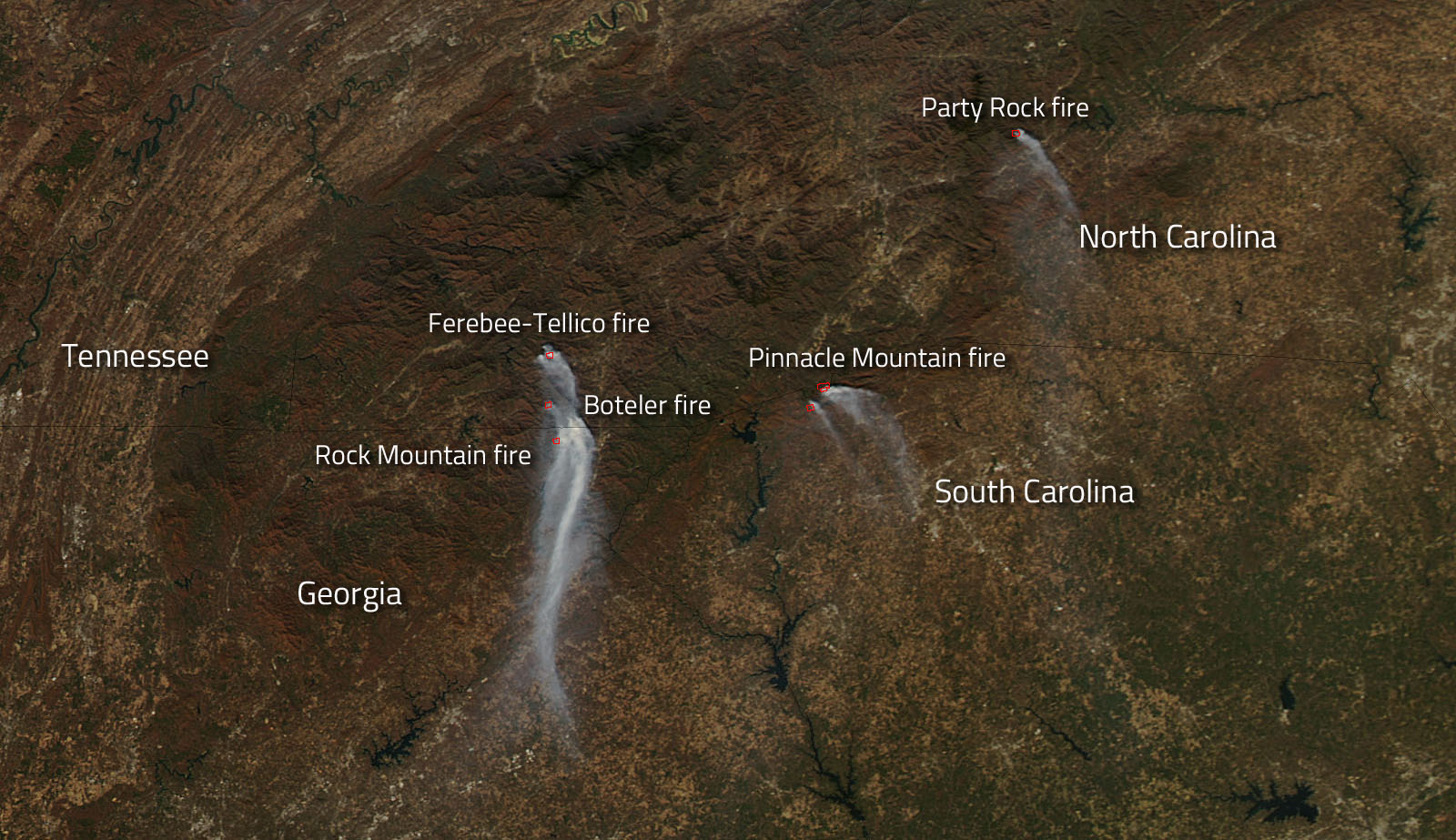 NASA Tracks Wildfires Still Plaguing Southeastern US NASA - Wildfires map in southeastern us