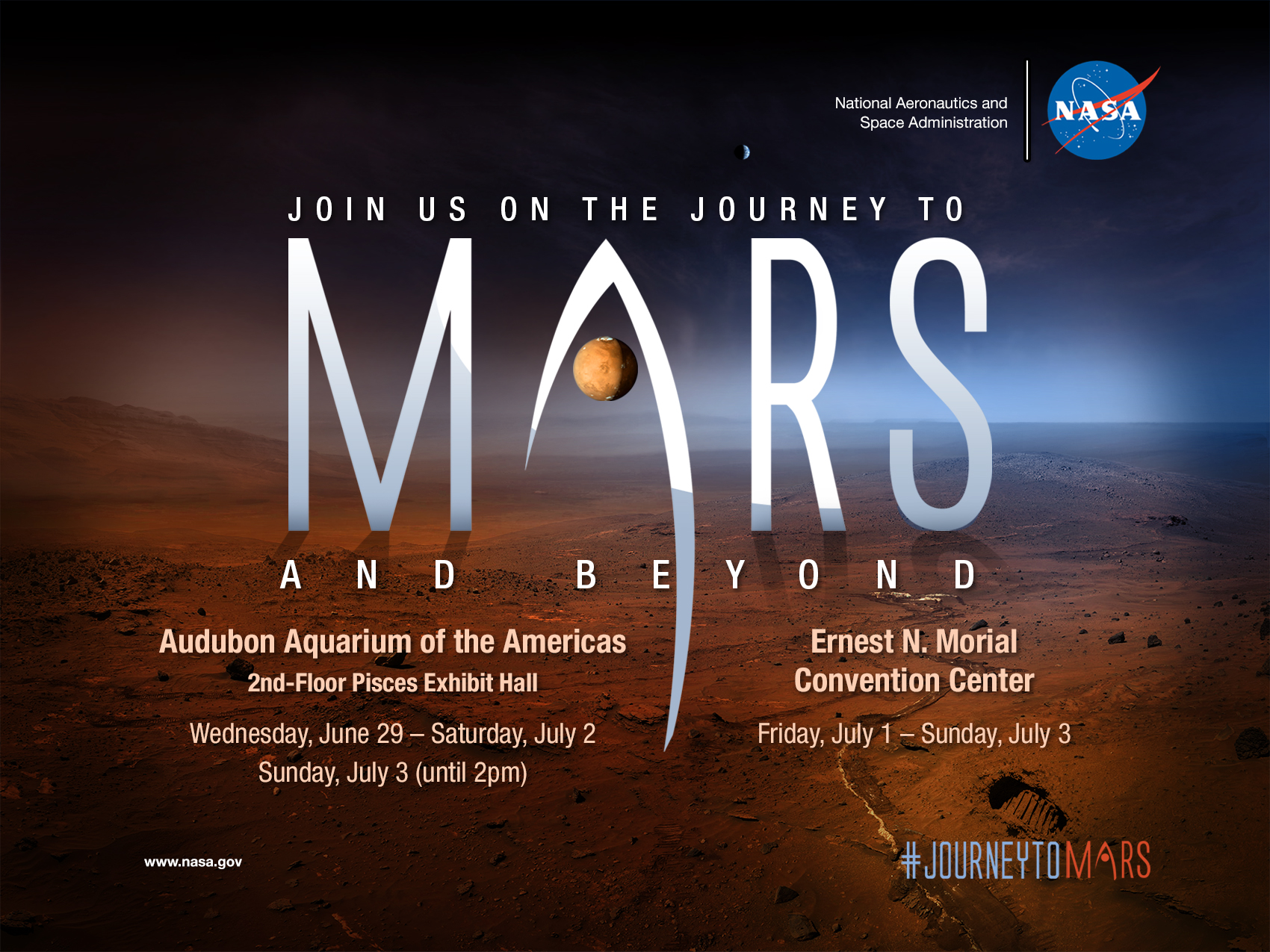 Poster design for technical events - Mars And Beyond Poster For Essence Events