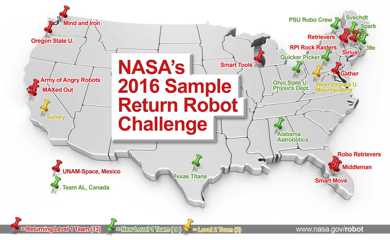 Centennial Challenges Sample Return Robot Challenge 2016 Teams
