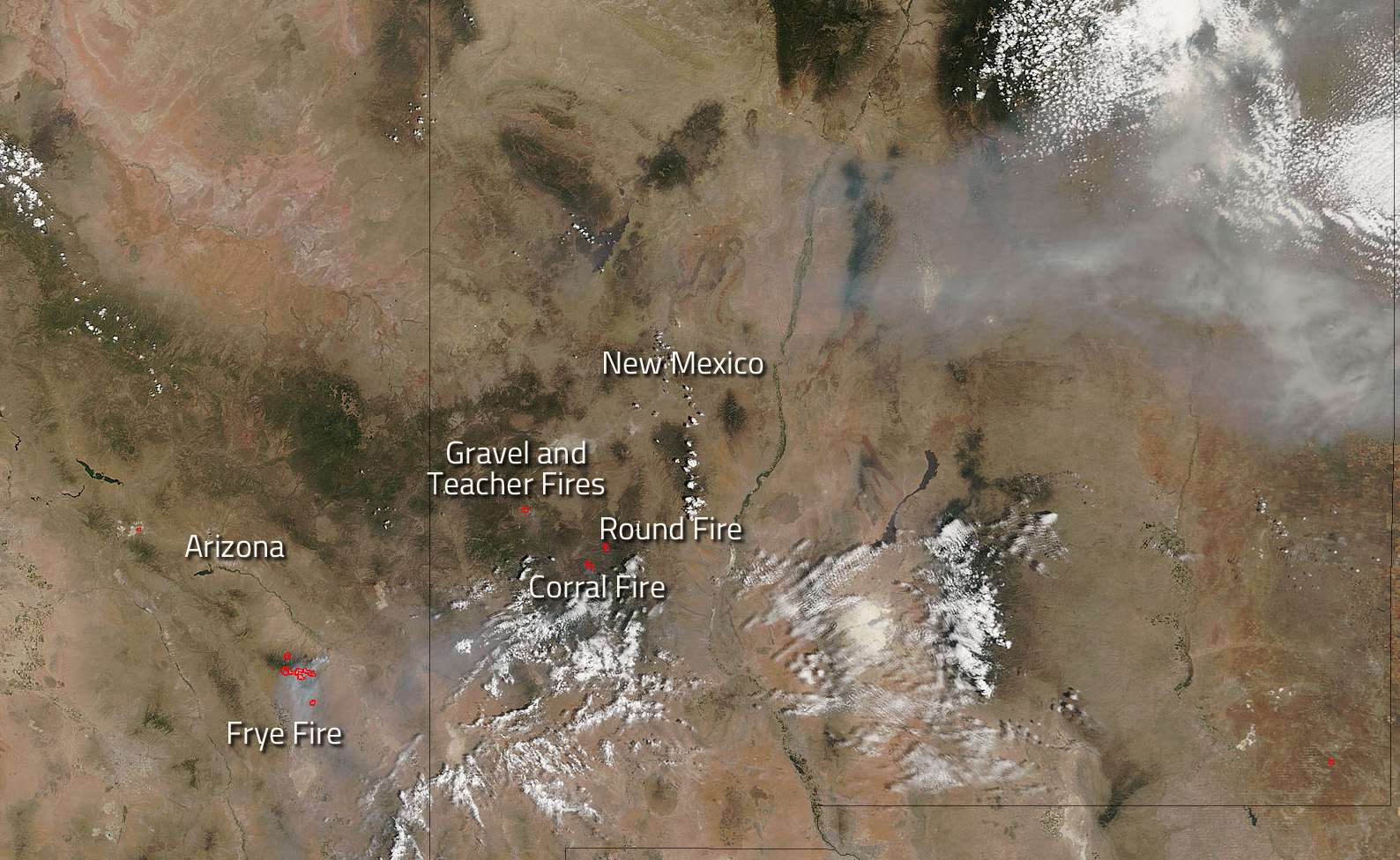 Fires In Southwestern U S Continue To Burn