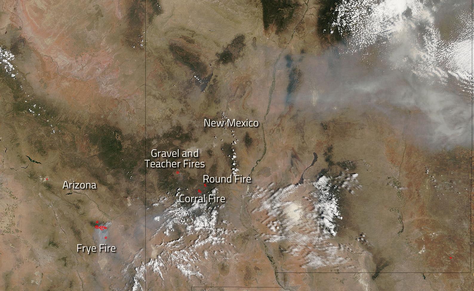 Southwestern U S Fires