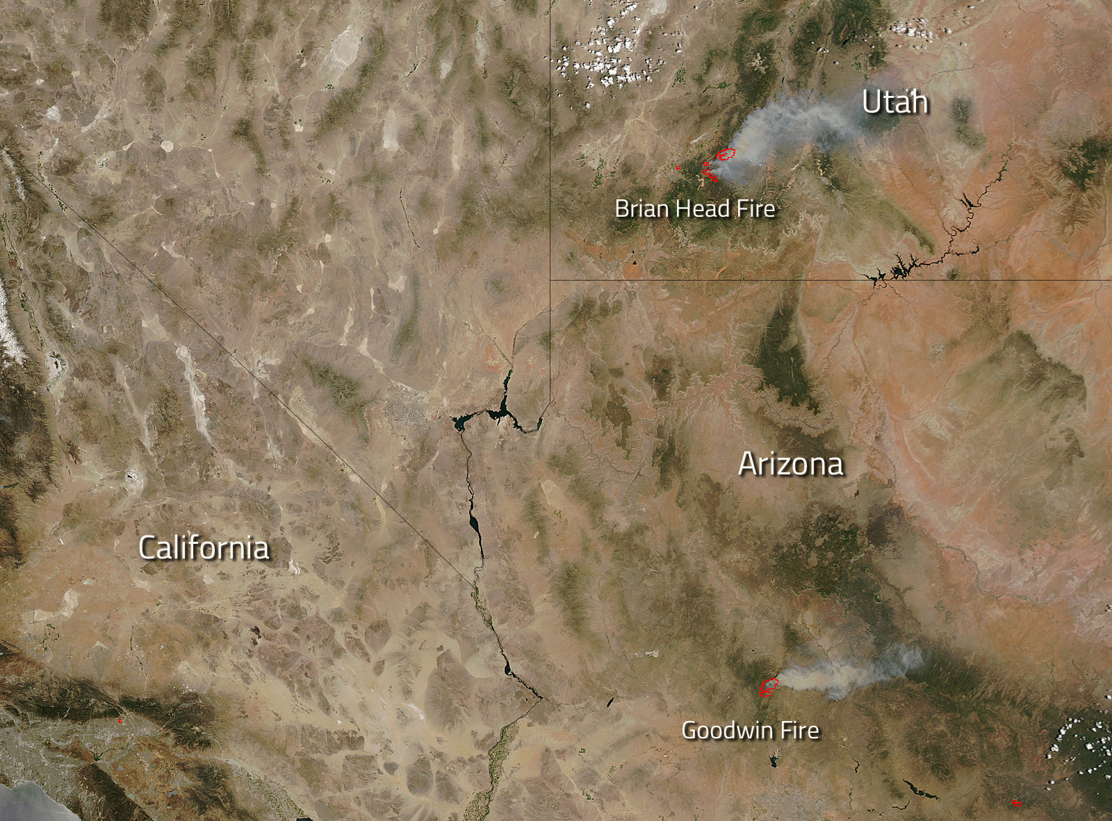 Wildfires Abound In US Southern States NASA - Fire map southeast us