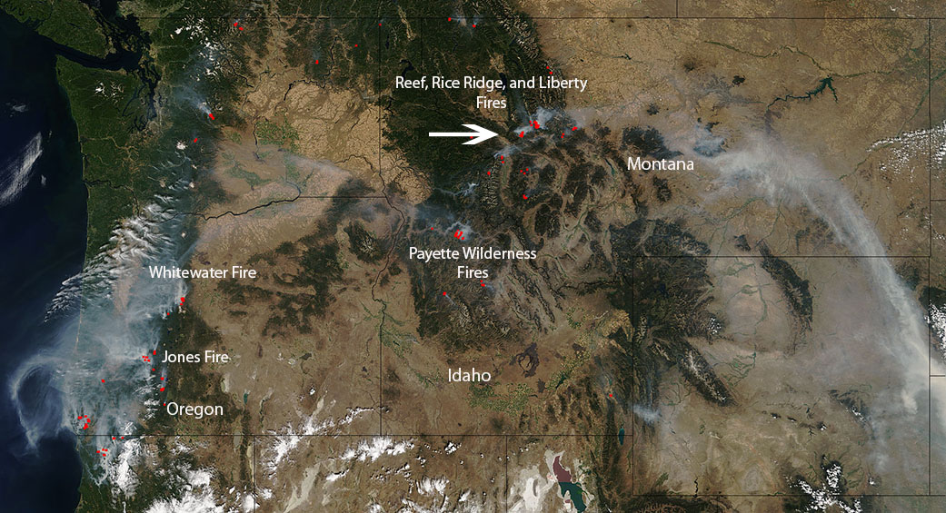 Dozens Of Wildfires In Western United States Nasa