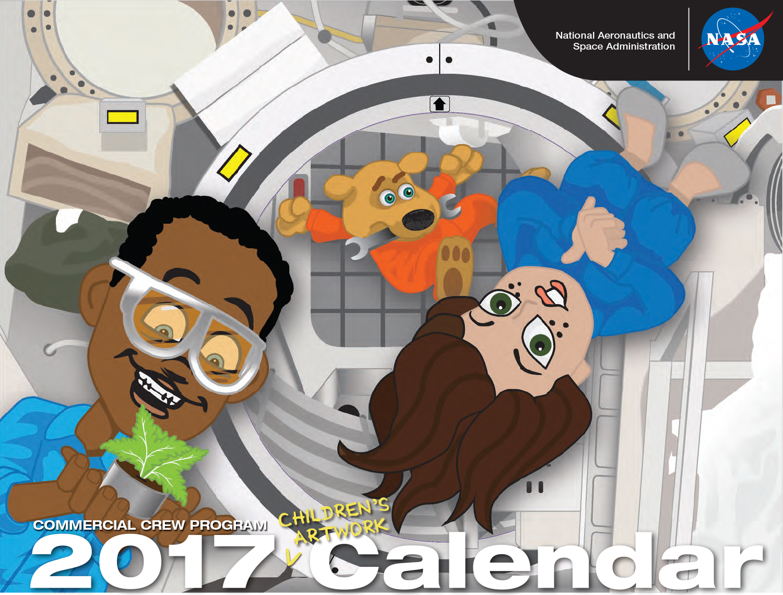 2017 children s artwork calendar nasa