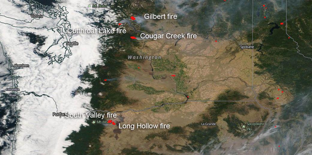 Washington State And Oregon Also Seeing Active Fire Season Nasa