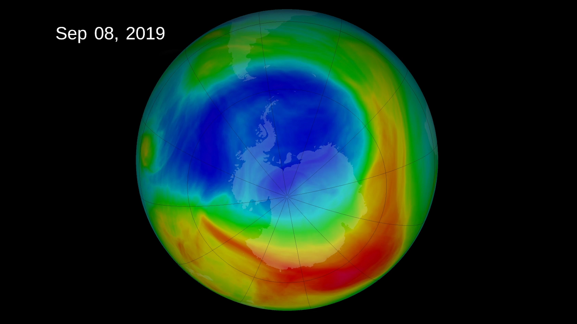 Antarctic ozone hole 2019
