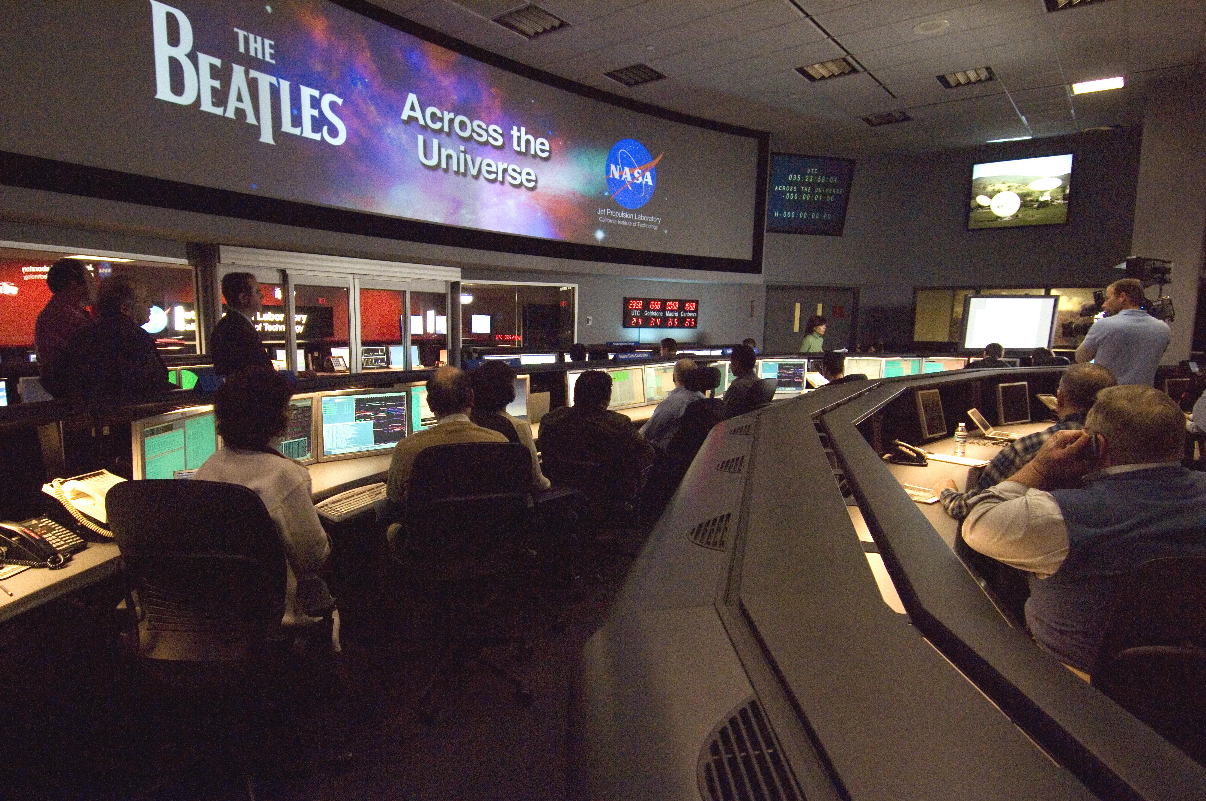 NASA Beams Beatles Across The Universe Into Space