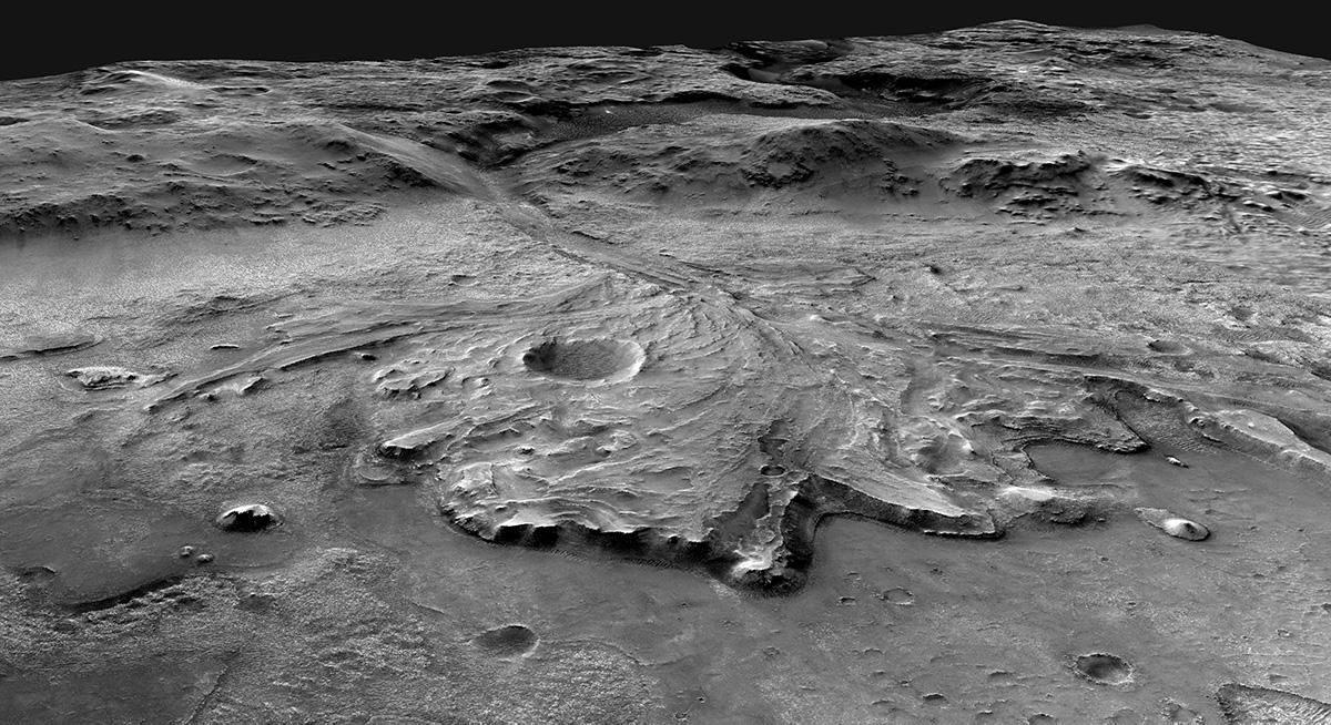Traversing Mars Jezero Crater