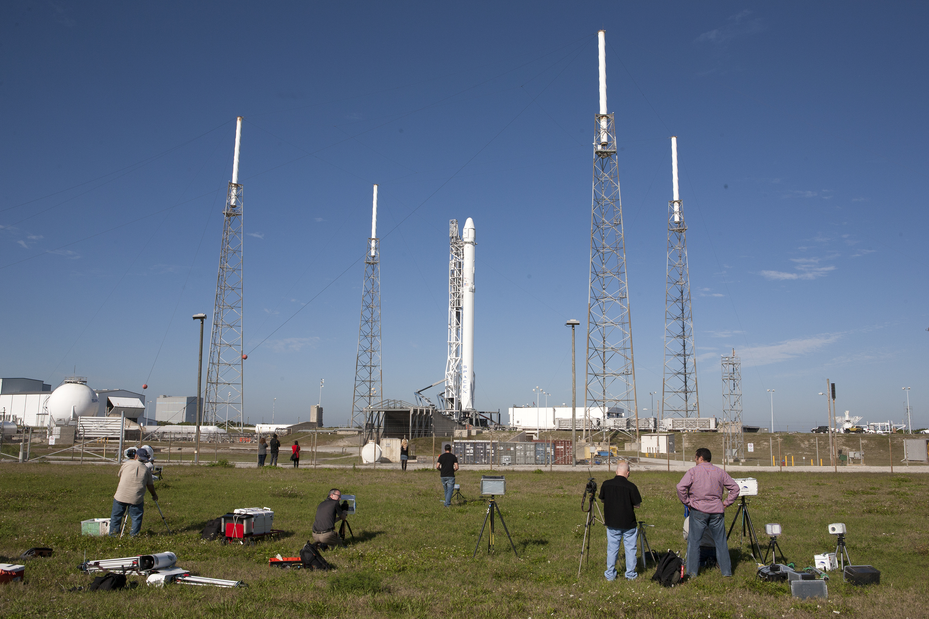 Falcon 9 Rocket Ready For Spacex Launch
