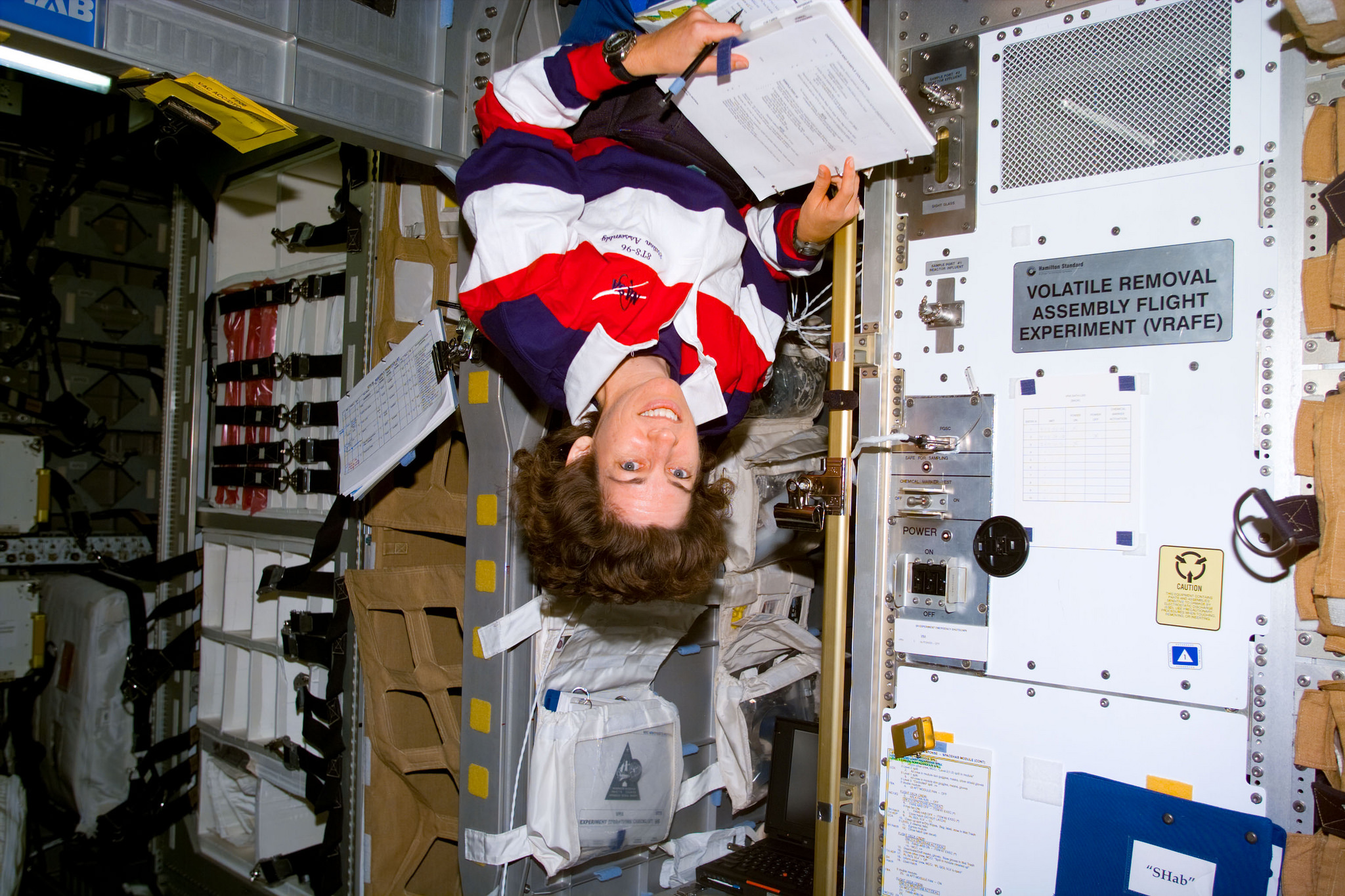Ellen Ochoa at Work on the Shuttle