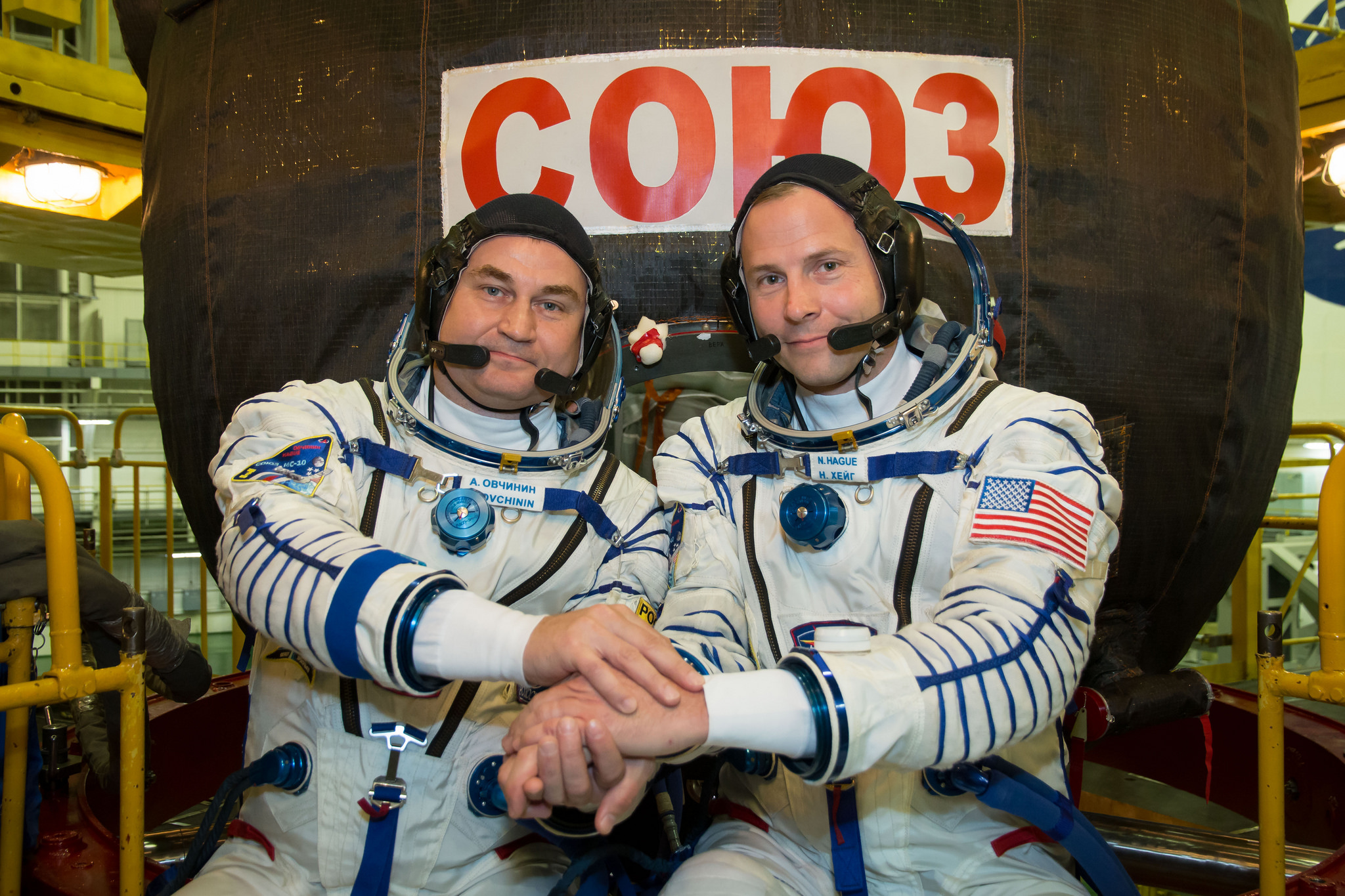 Soyuz capsule carrying 3 crew land safely in Kazakhstan