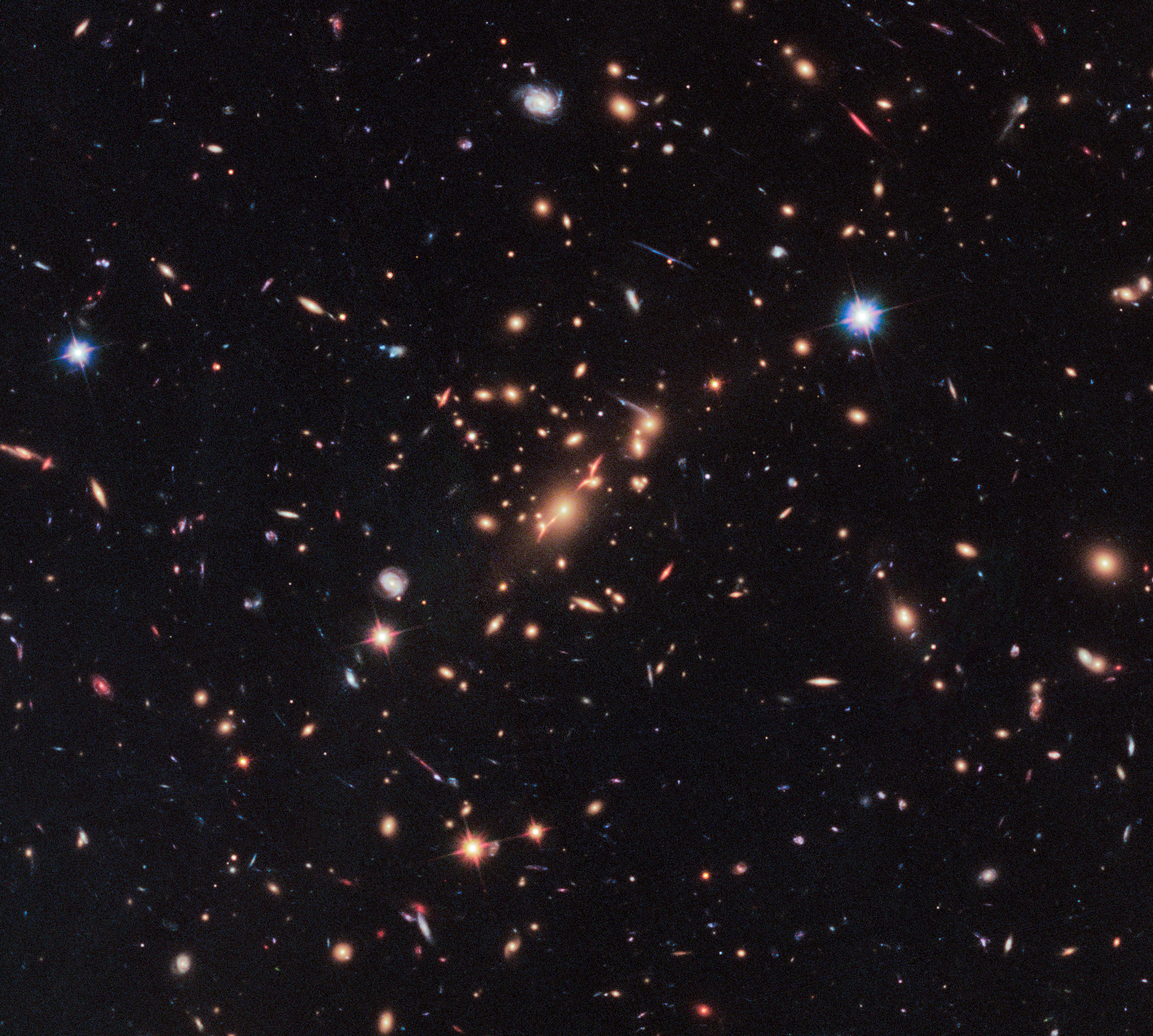 Hubble Uses Gravitational Lens to Capture Disk Galaxy