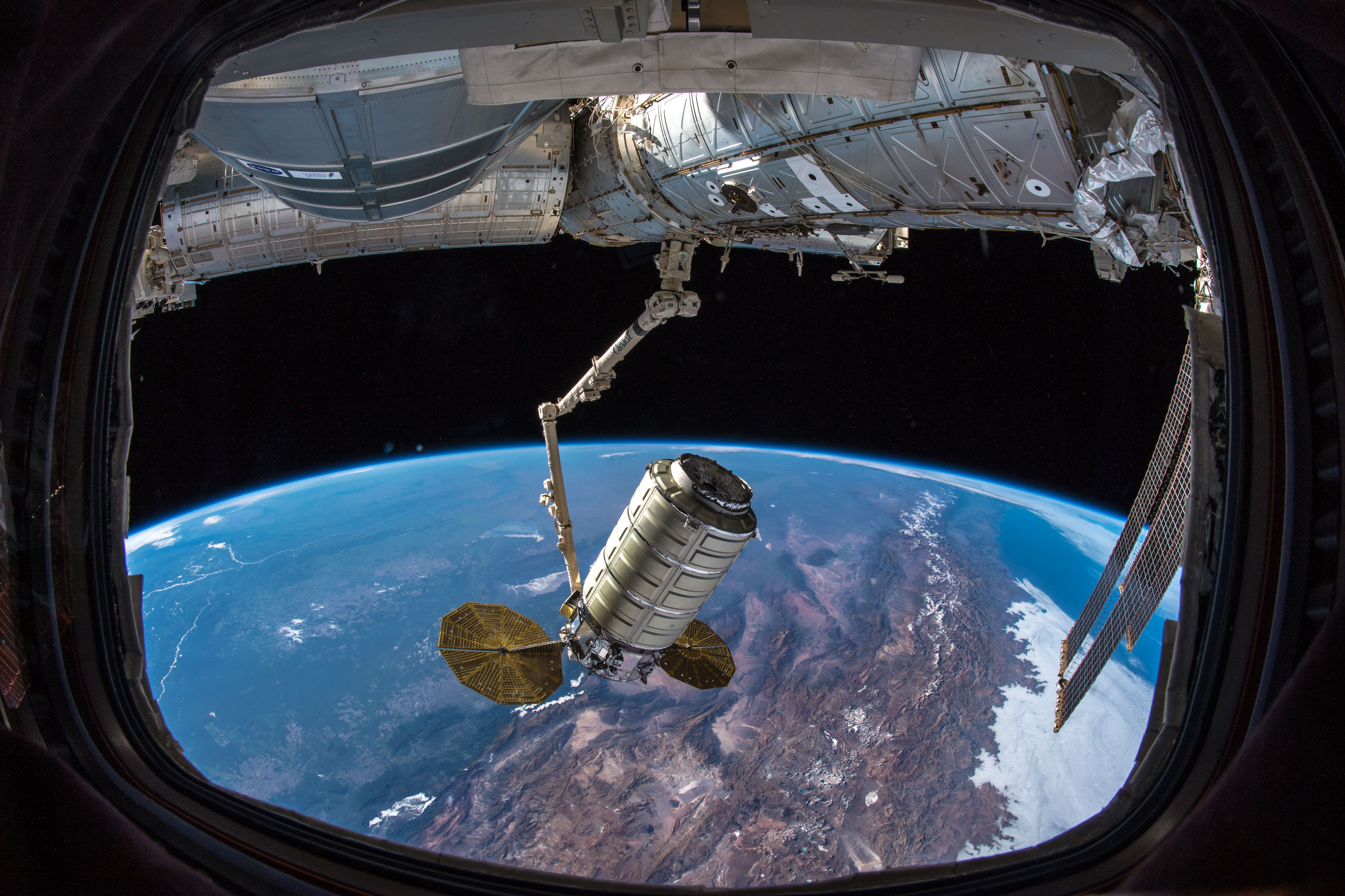 SS John Young Cargo Craft Docks to Space Station