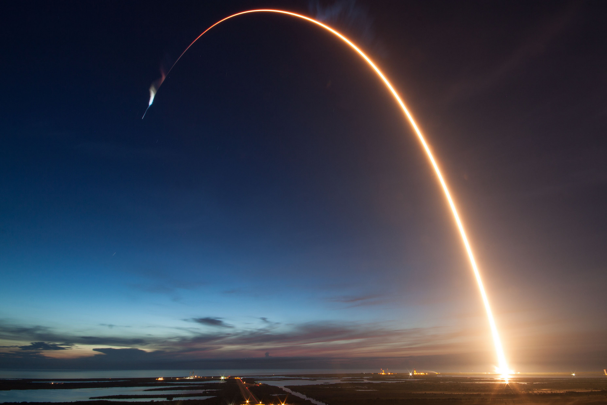 SpaceX's Falcon 9 Rocket Launches Dragon to the International Space Station
