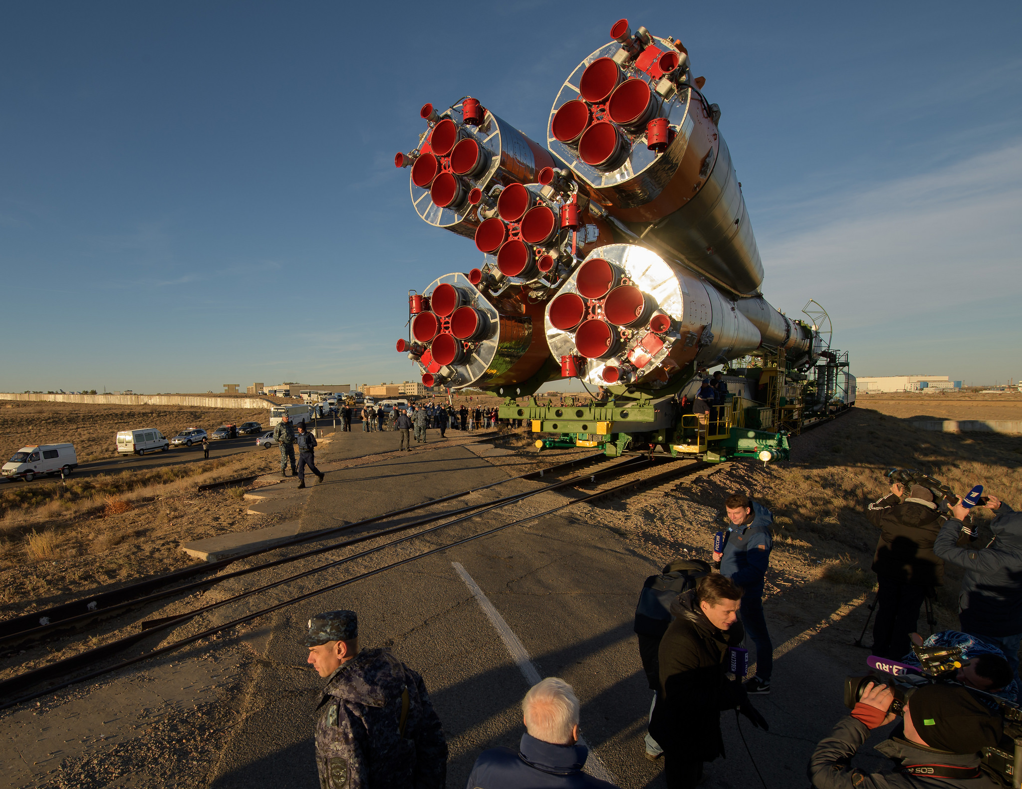 Soyuz Rolls to the Pad for Next Launch to the Space Station