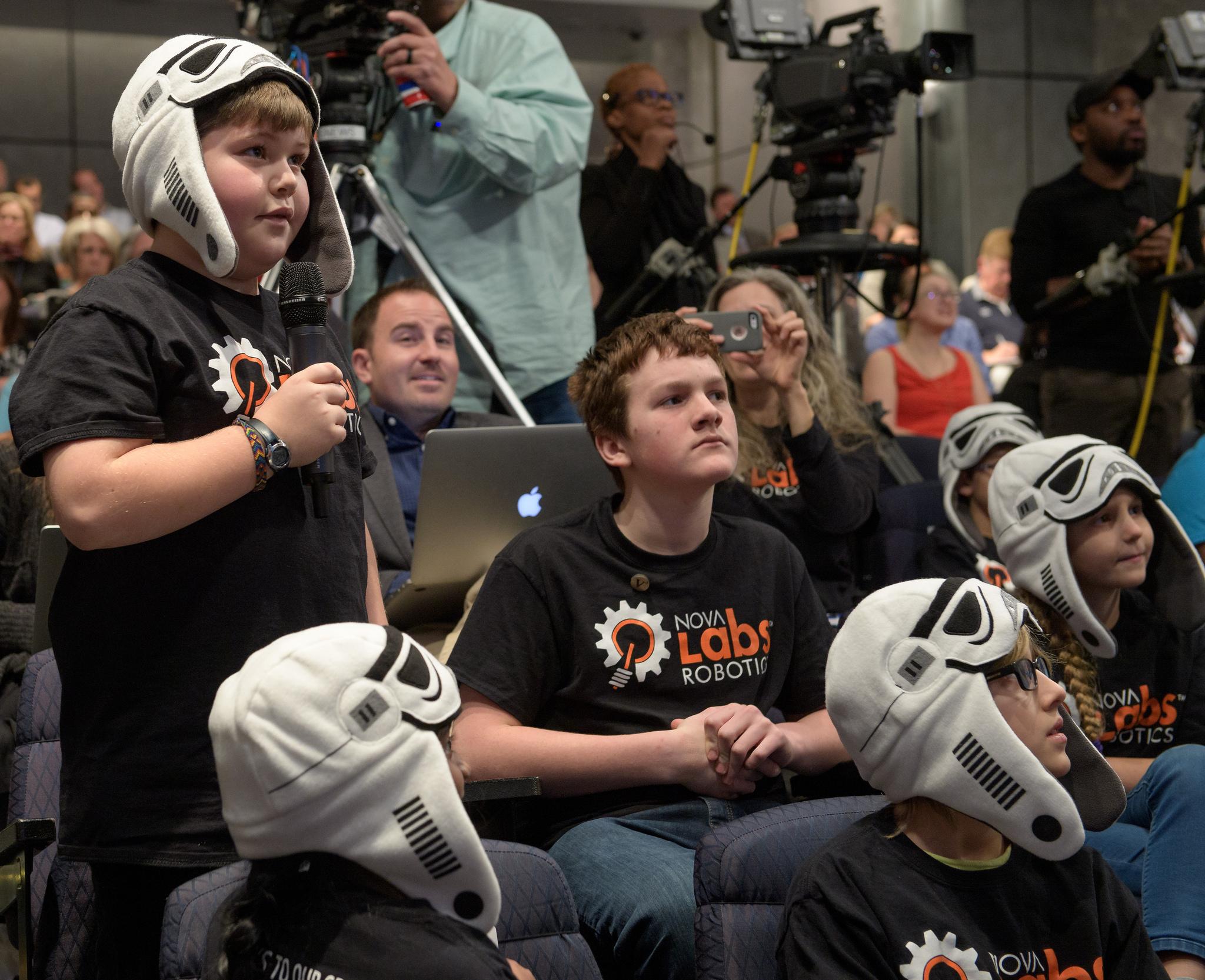 A 'BrainStorm Trooper' Inquires About NASA Exploration