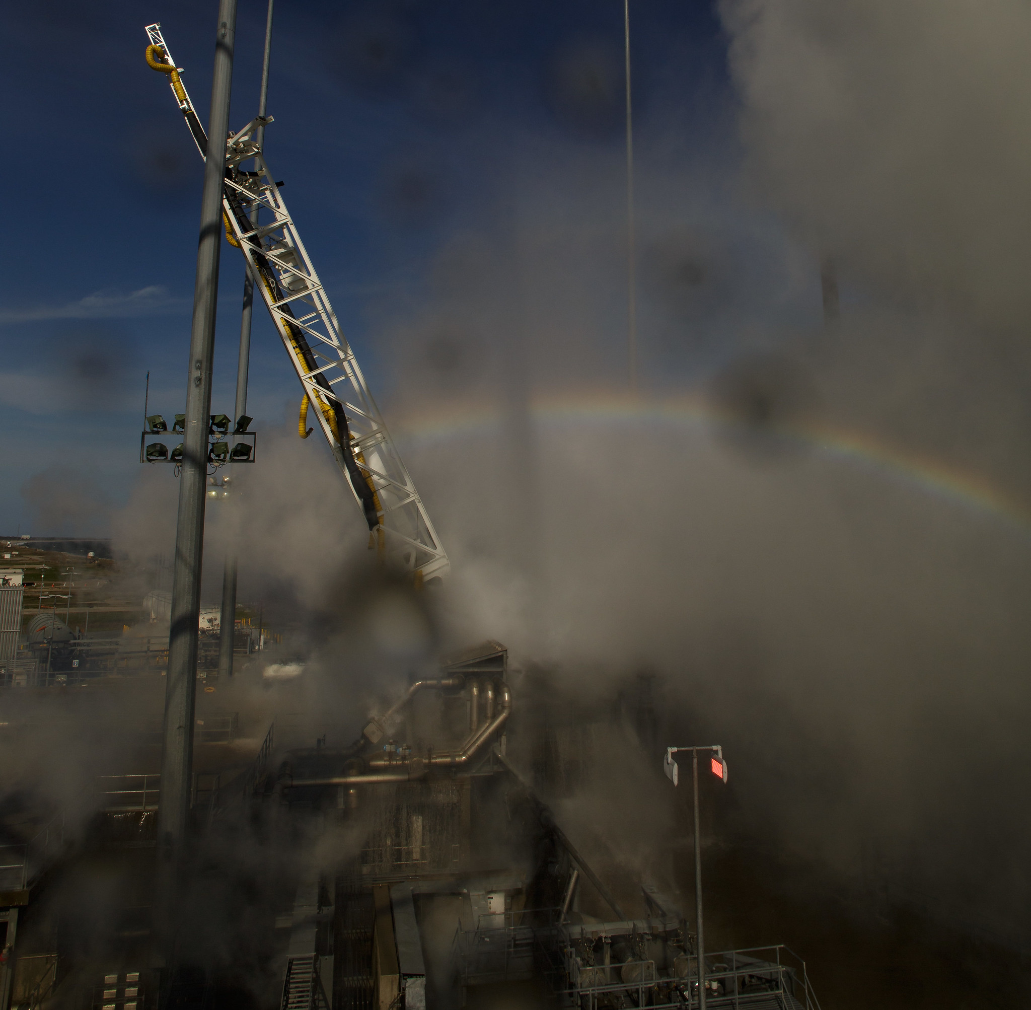A Rainbow And The Cygnus Launch Nasa