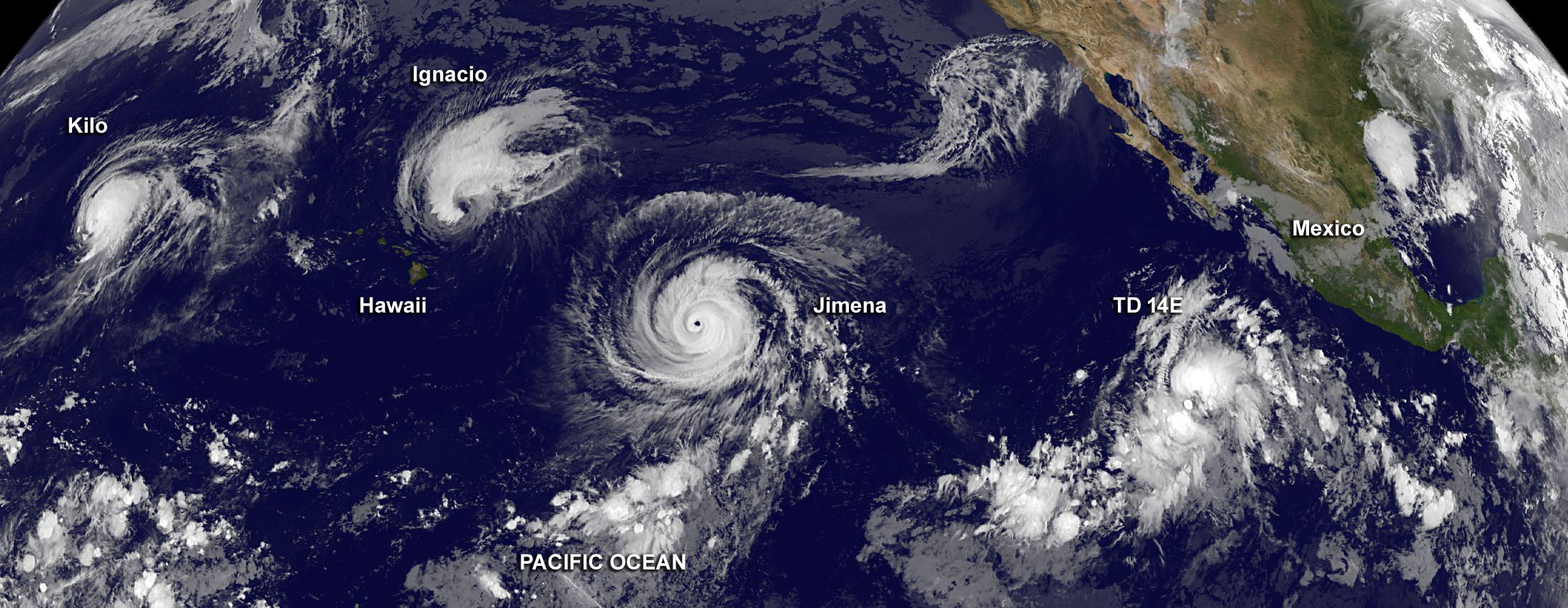 four tropical cyclones across the entire pacific ocean nasa. Black Bedroom Furniture Sets. Home Design Ideas
