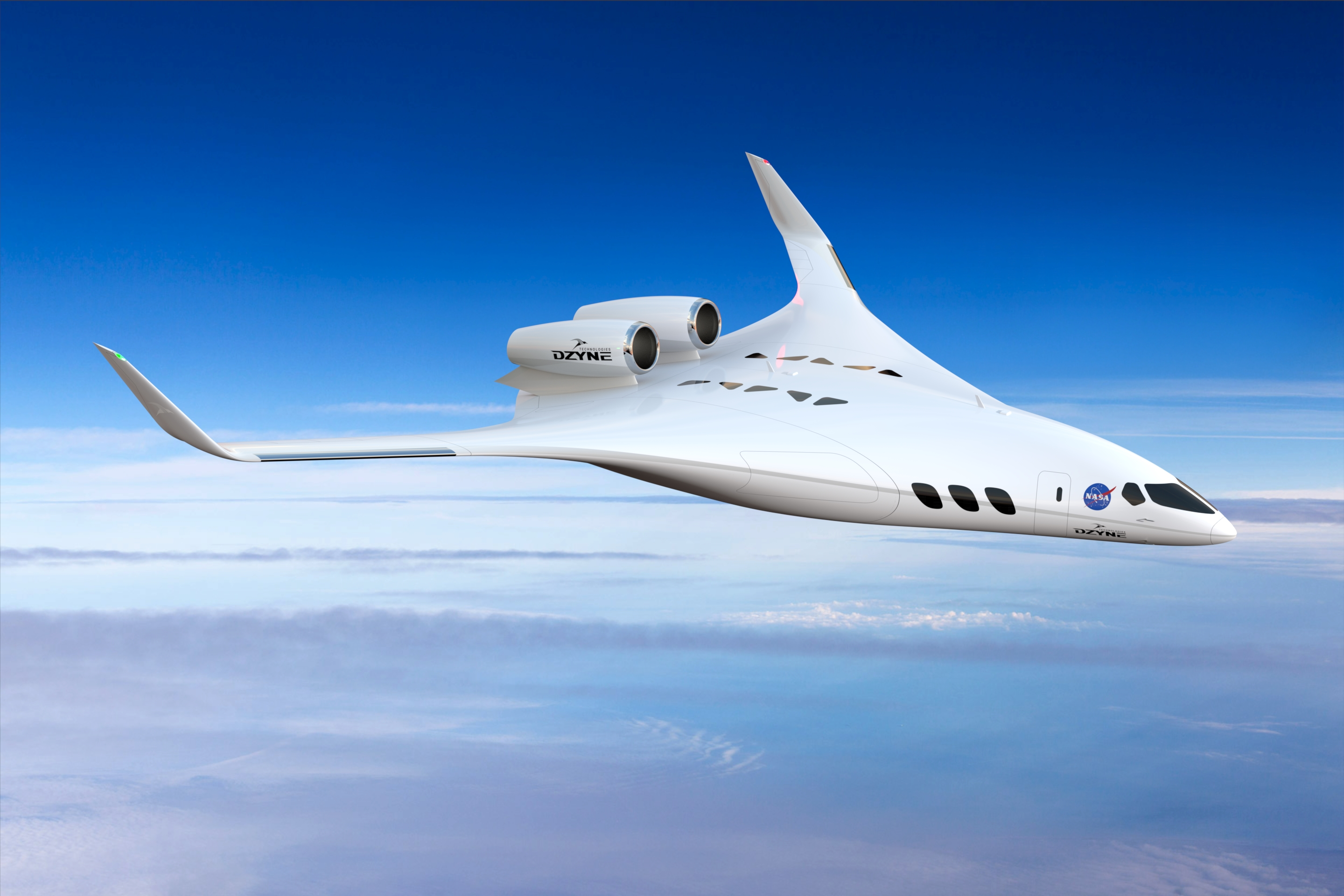 With the recent advances in technology and design aircraft concepts - Dzyne Technologies Regional Sized Blended Wing Body Design Concept
