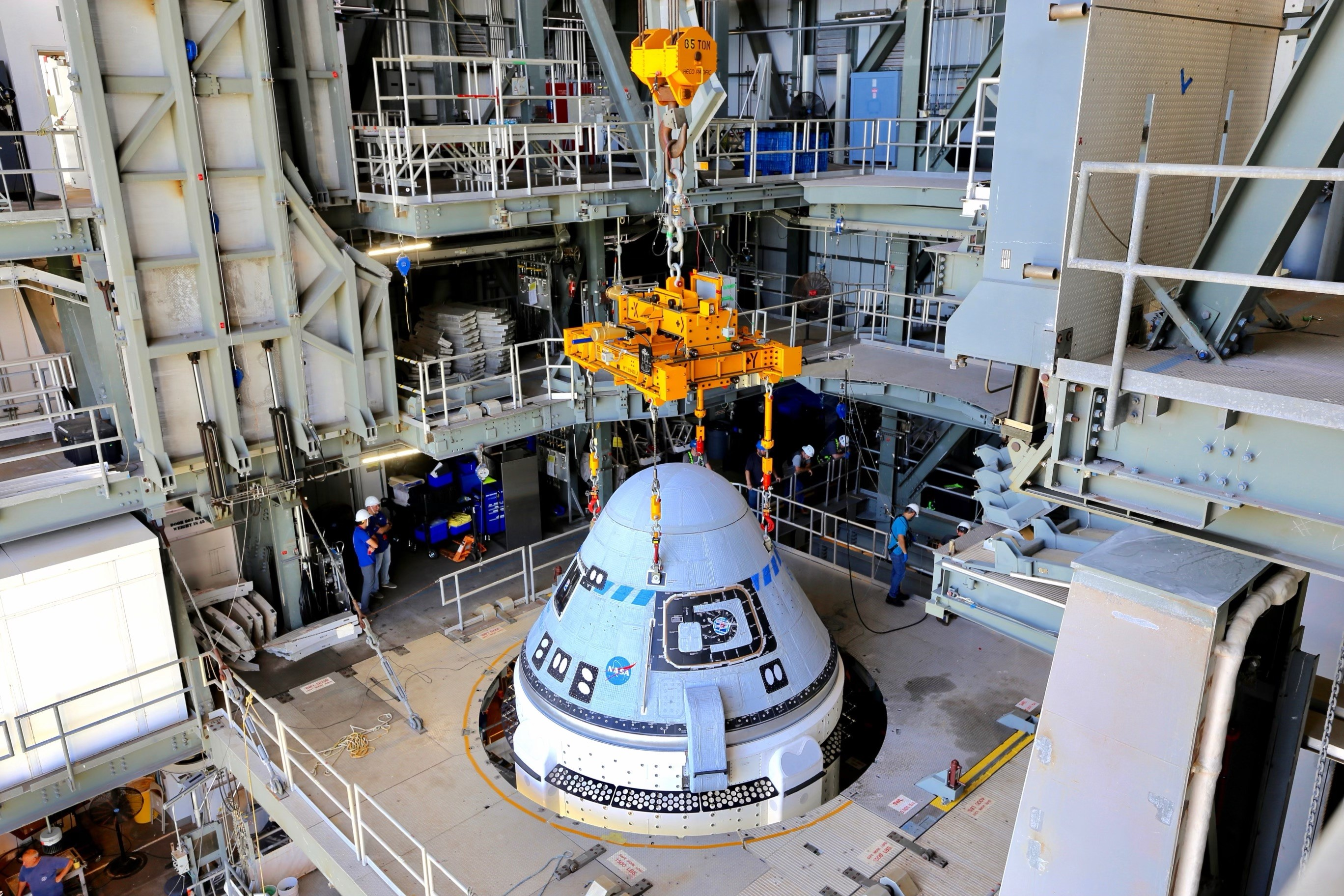 Boeing's CST-100 Starliner Secured Atop an Atlas V Rocket