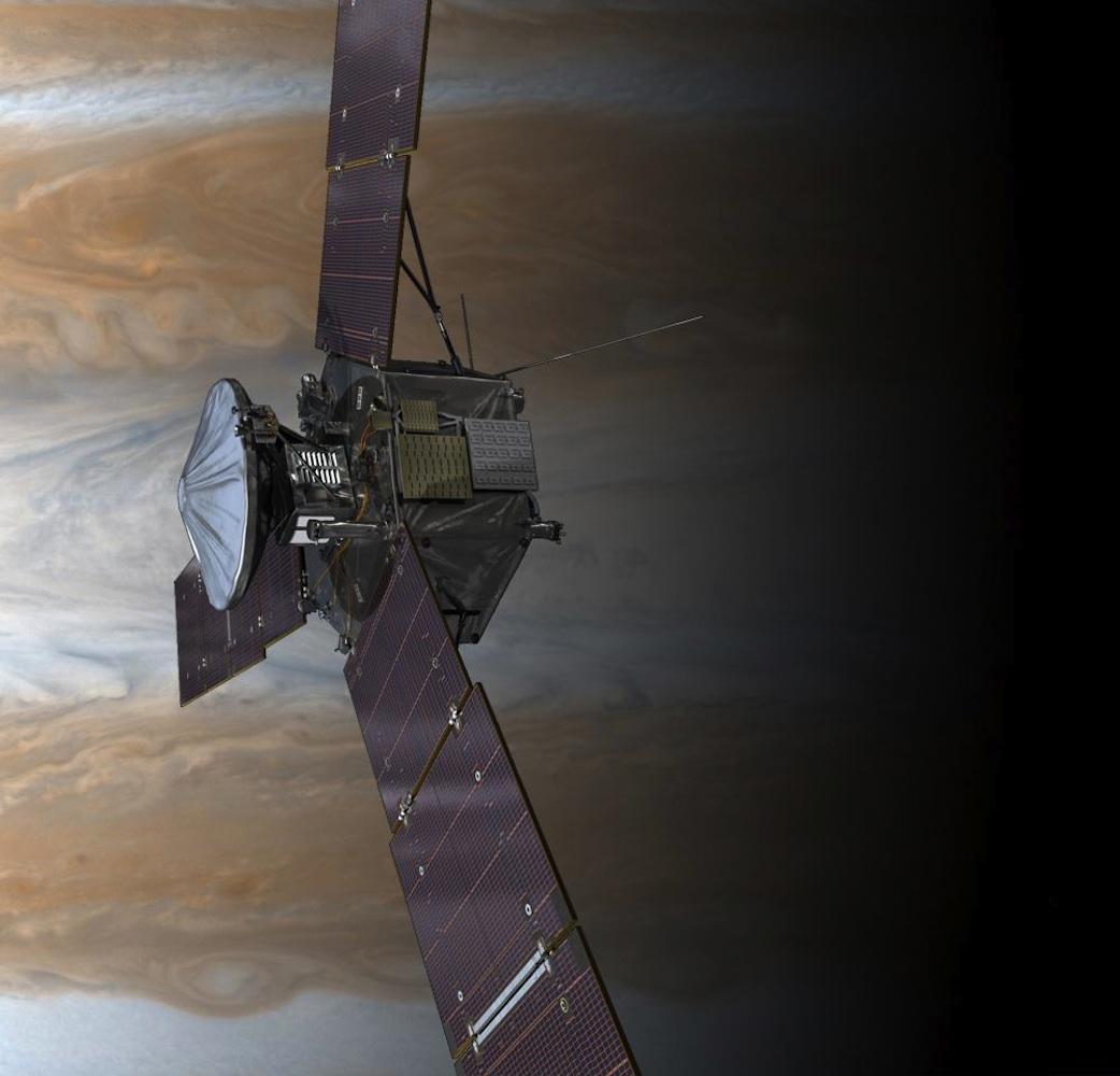 Jupiter · Artist Concept Of Juno Spacecraft In Jupiter Orbit