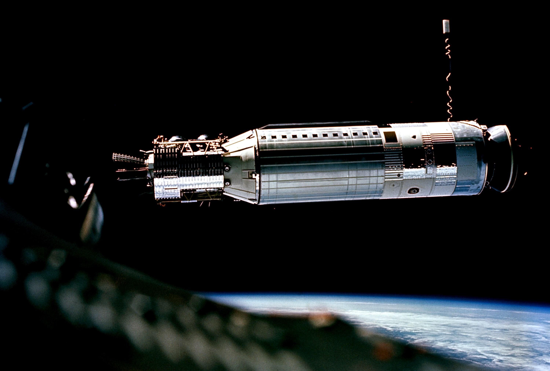 Agena Target Vehicle docking with Gemini VIII