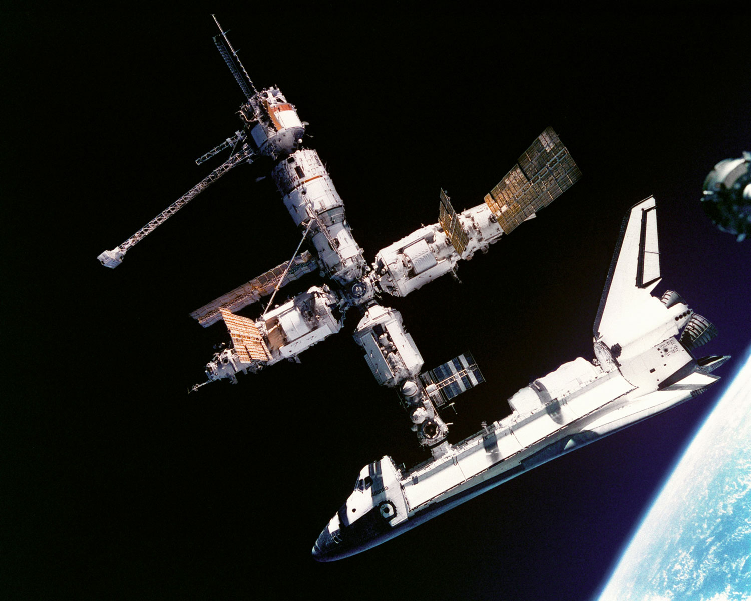 Video Mir Space Station Russian Space Station Mir