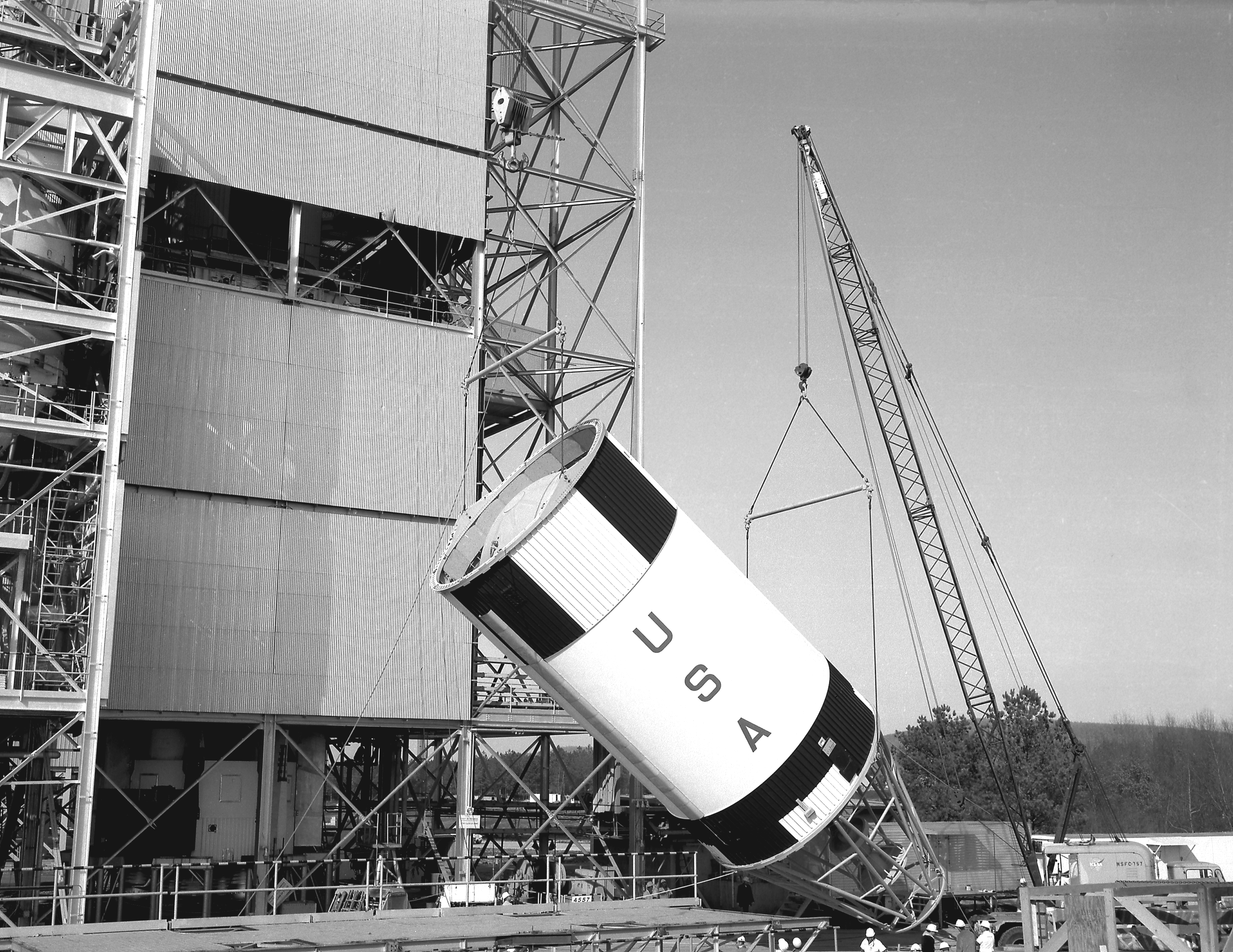 This Week in NASA History: Saturn IB Placed in Marshall Test Stand ...