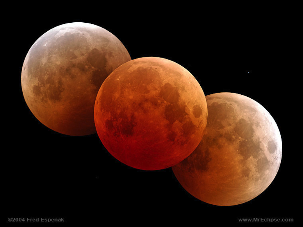 Colouring sheets of the lunar eclipse - Composite Images Of Moon During Eclipse
