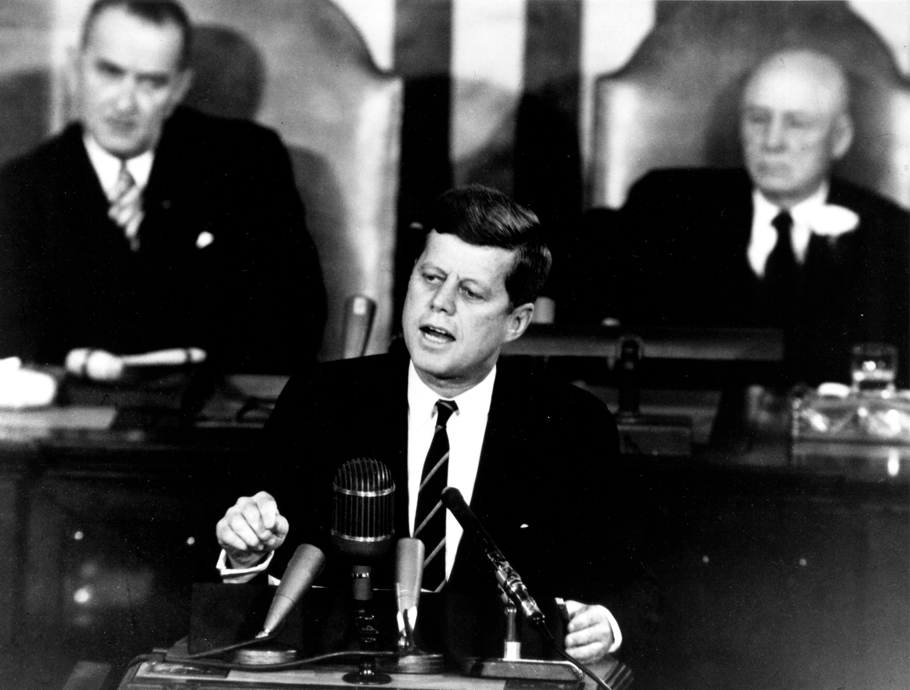 Image result for president kennedy land a man on the moon congress