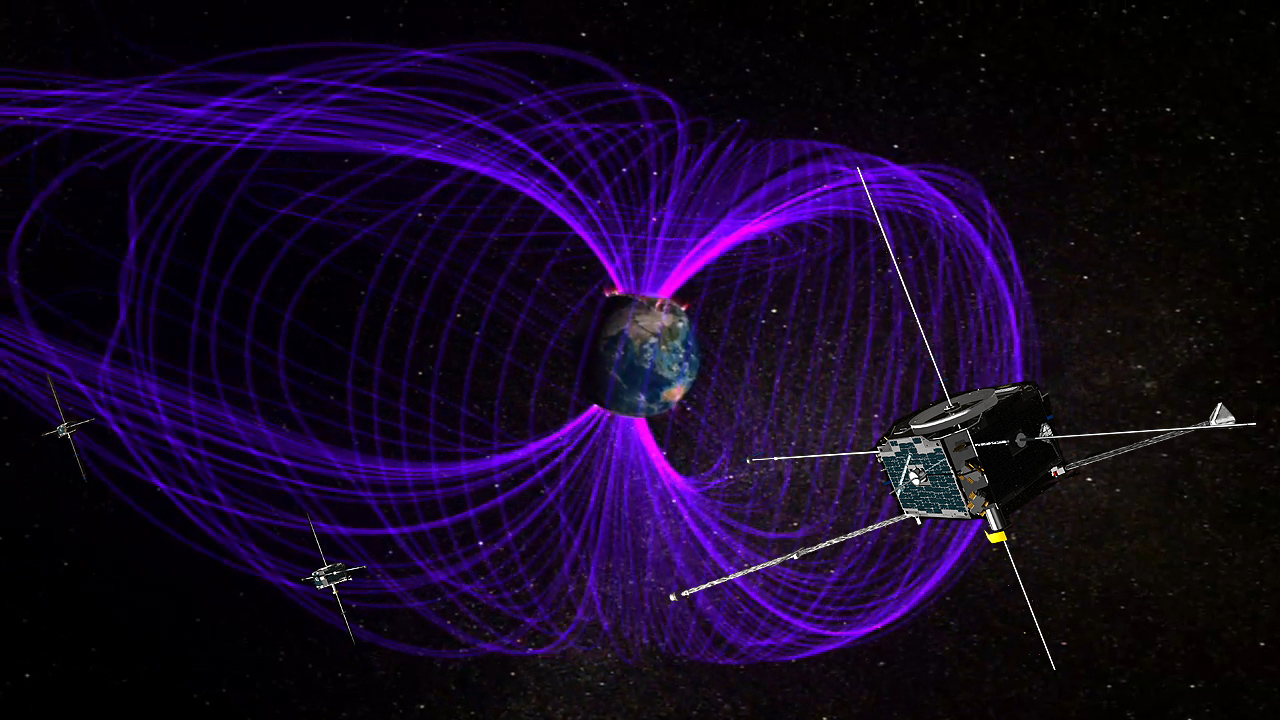Pulsating Aurora Mysteries Uncovered with Help from NASA's THEMIS Mission 728501main_themis-magnetosphere