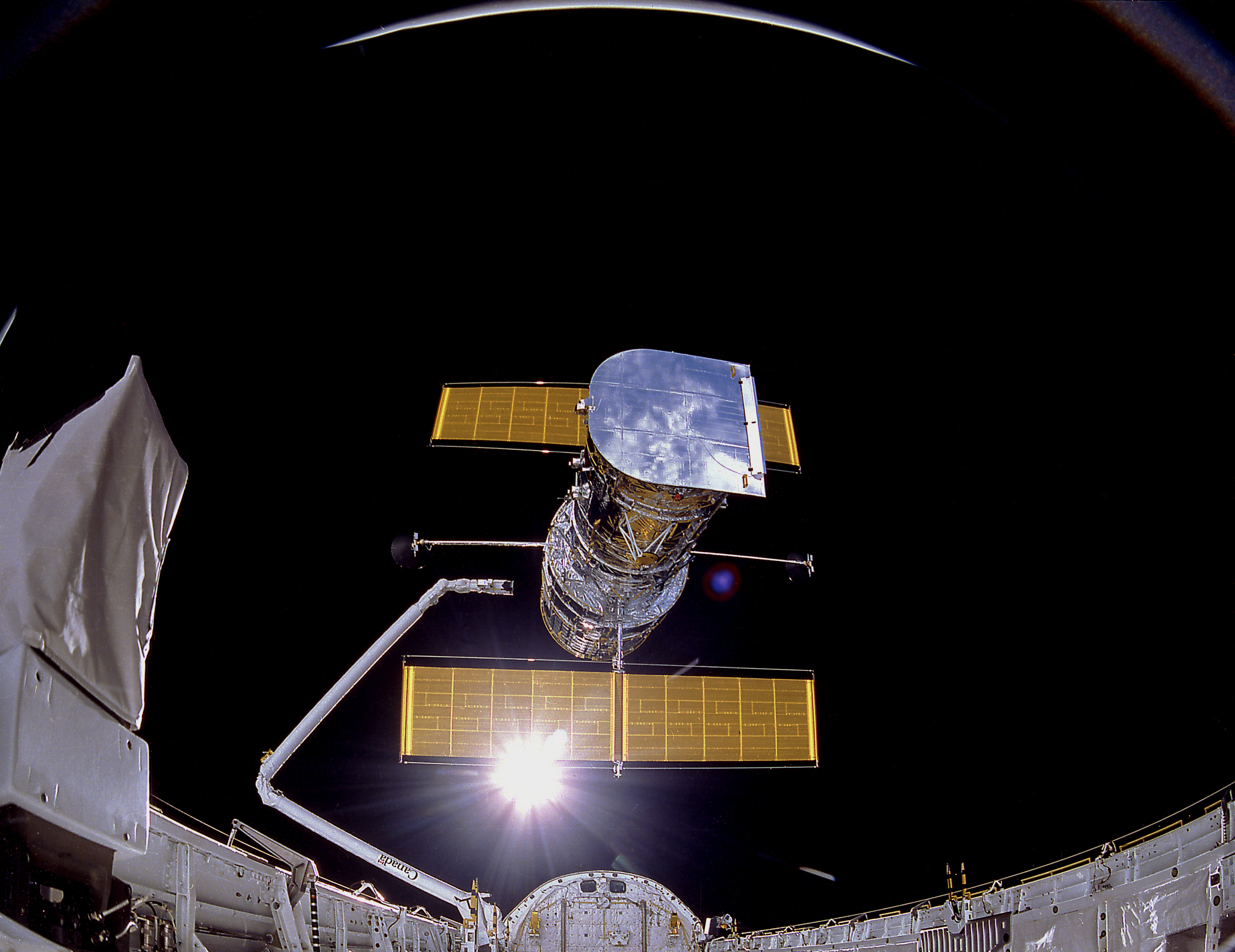 Image result for the hubble space telescope deployed into orbit in 1990