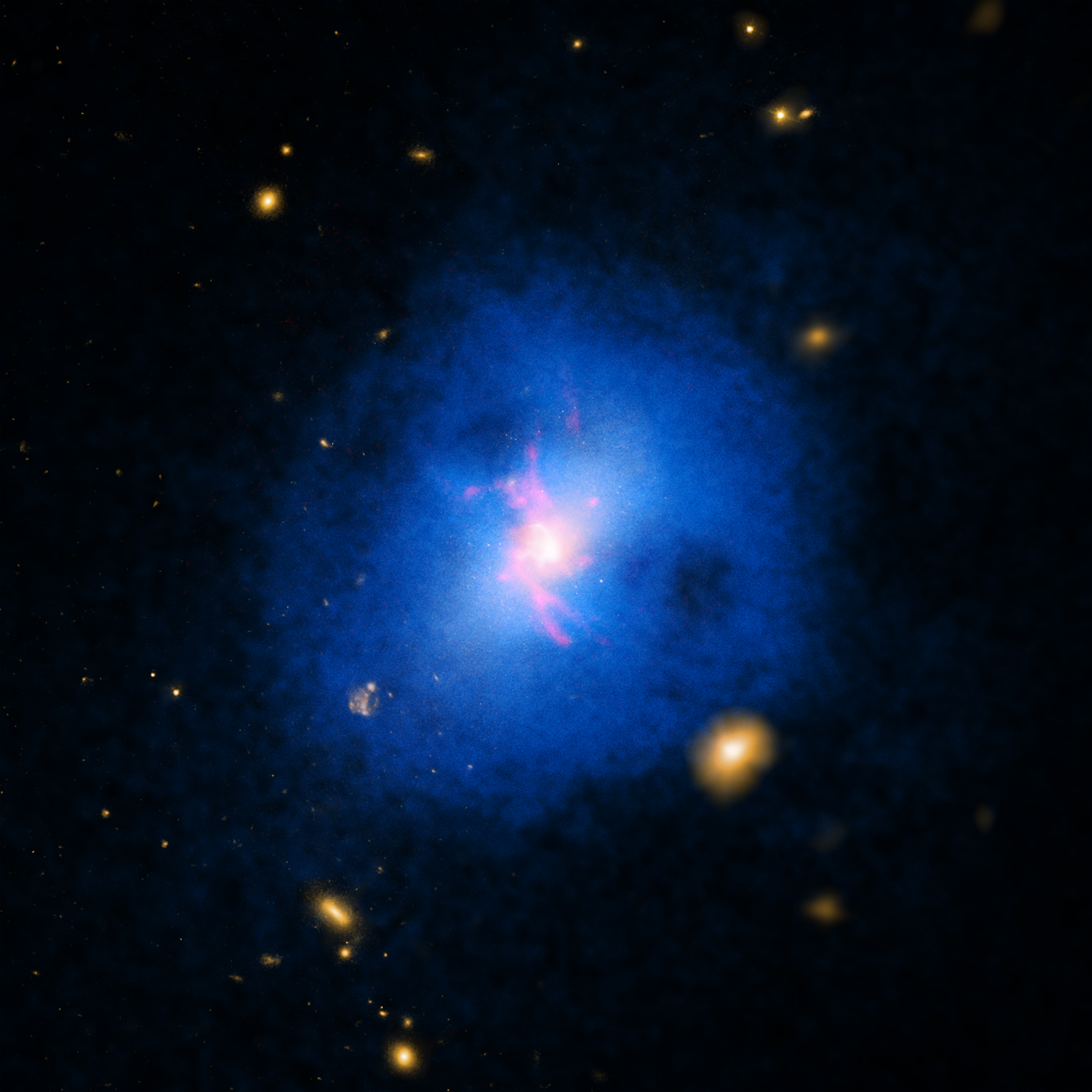 NASA's Chandra Observatory Finds Cosmic Showers Halt ...