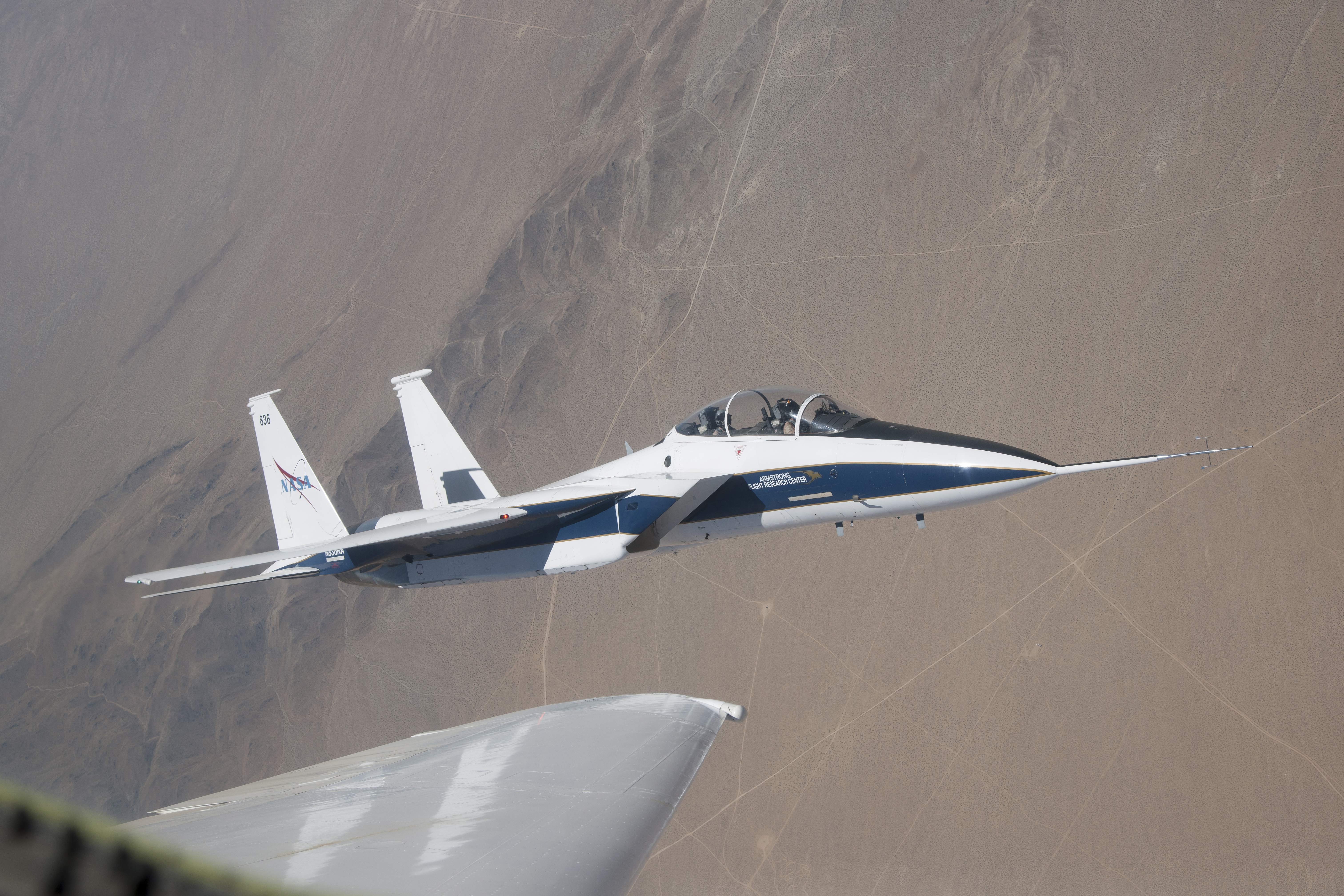 NASAu0027s F 15 Research Test Bed Will Expose The Swept Wing Laminar Flow Test  Article