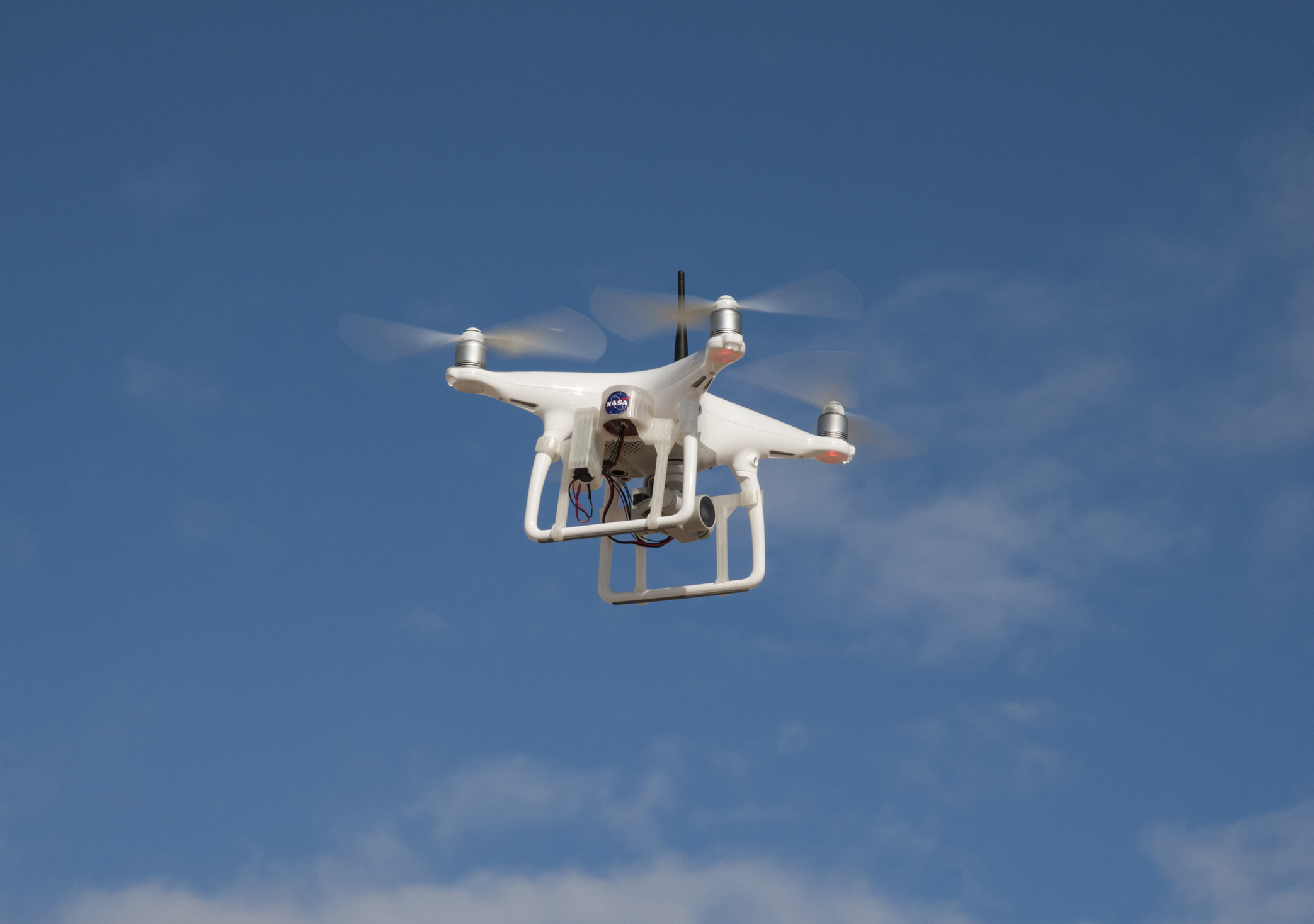 A phantom 4 unmanned aircraft system in flight