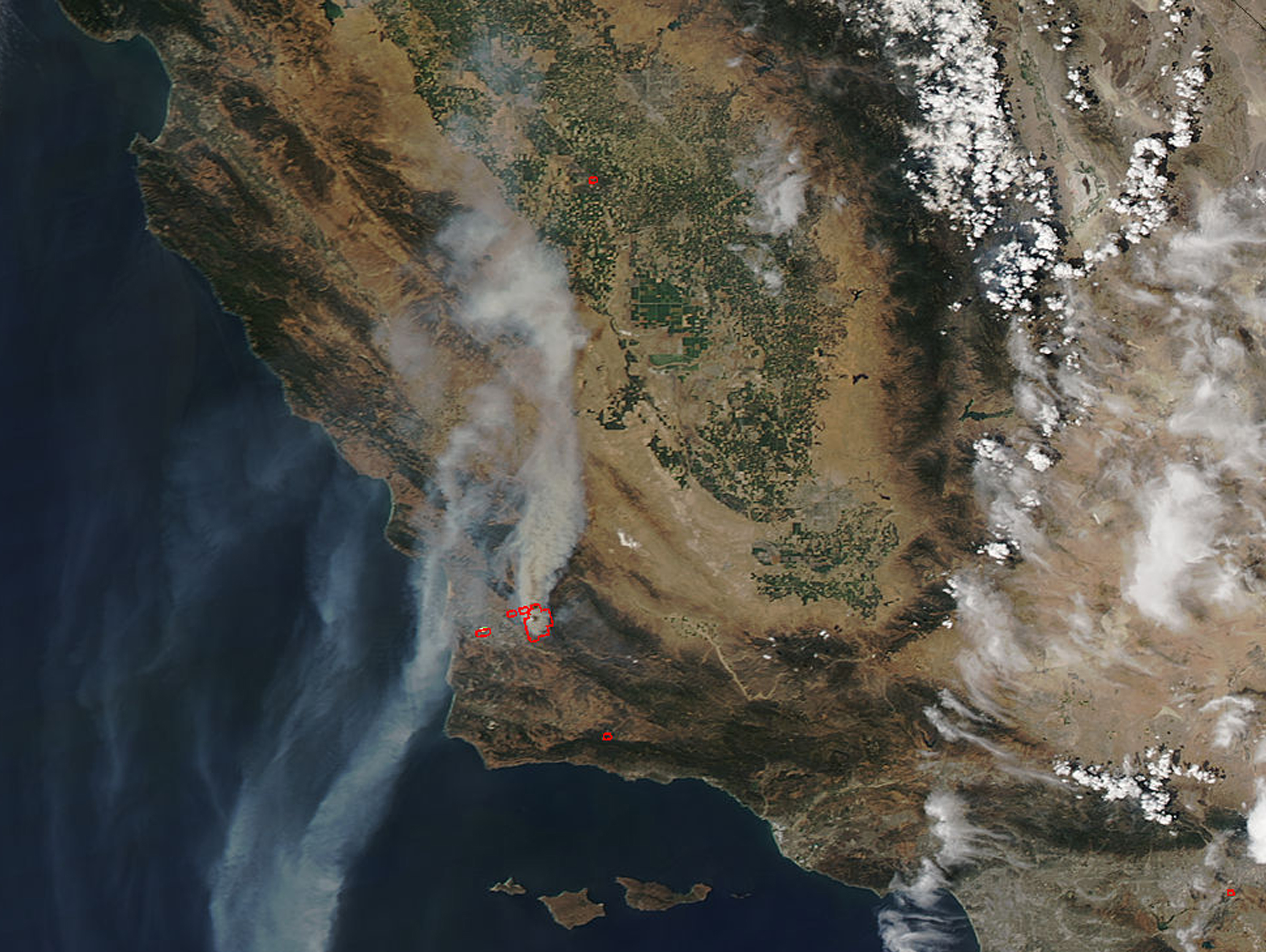 current california wildfire map with Nasa Sees Streaming Smoke From Southern Californias Alamo Fire on Rev as well Santa Rosa together with Province Wide Fire Ban Issued Due To Tinder Dry Conditions 1 likewise Dozens Of Fires Burn Through Montana And Neighboring States in addition Santa Rosa Fire Latest Tweets And Updates.