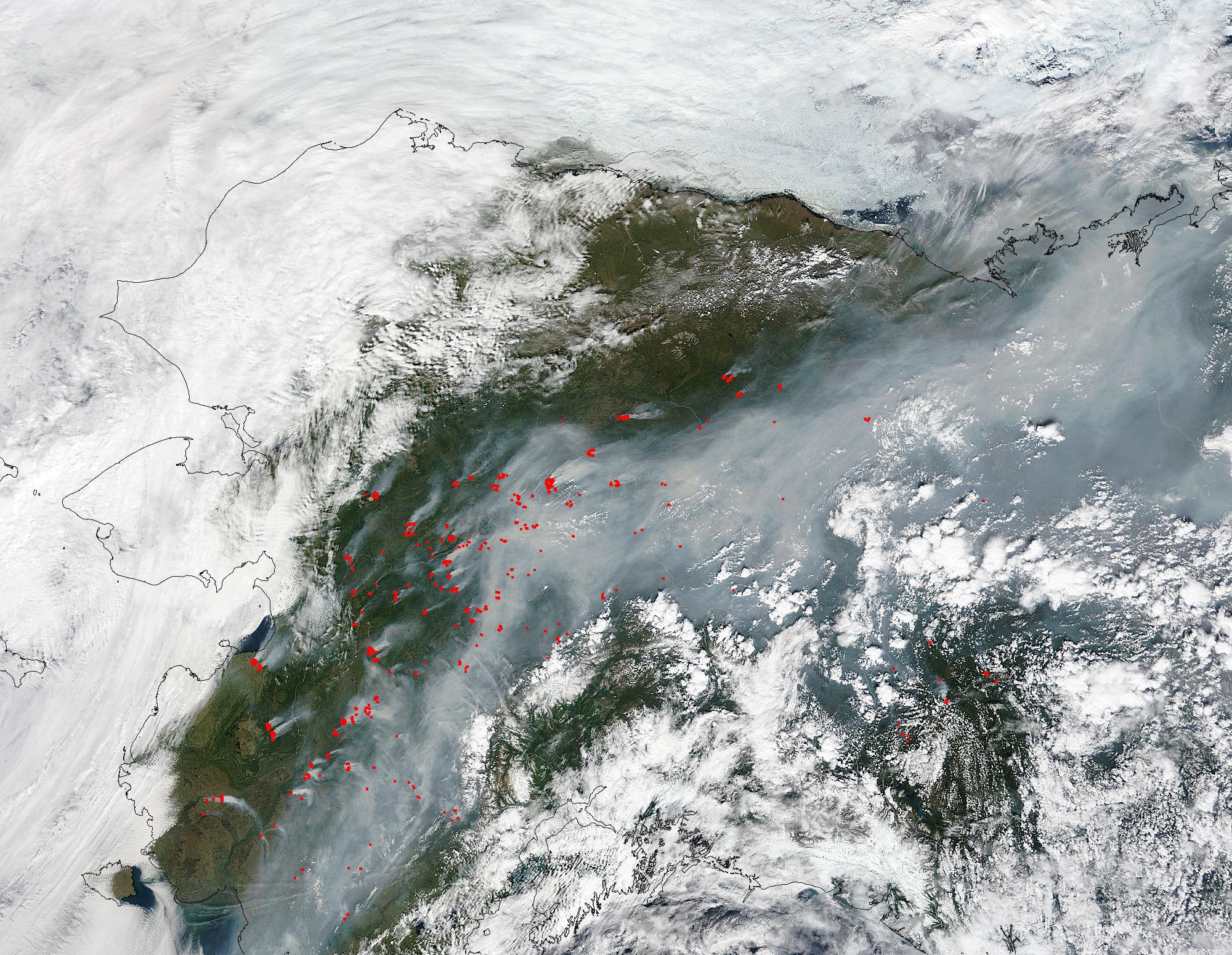 Unusually Large Number of Fires Across Alaska   NASA