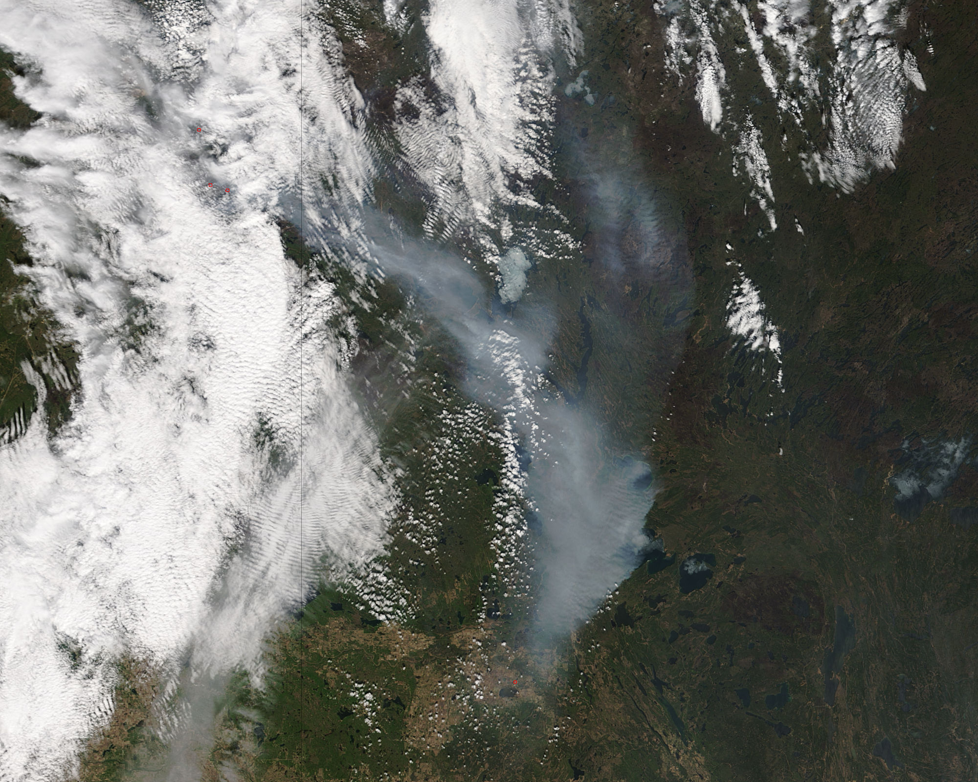 fires in southwestern nasa terra satellite image of ft mcmurray fire in alberta