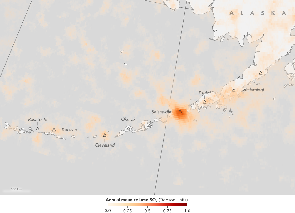 Map Of Aleutian Islands With Orange Data Overlay