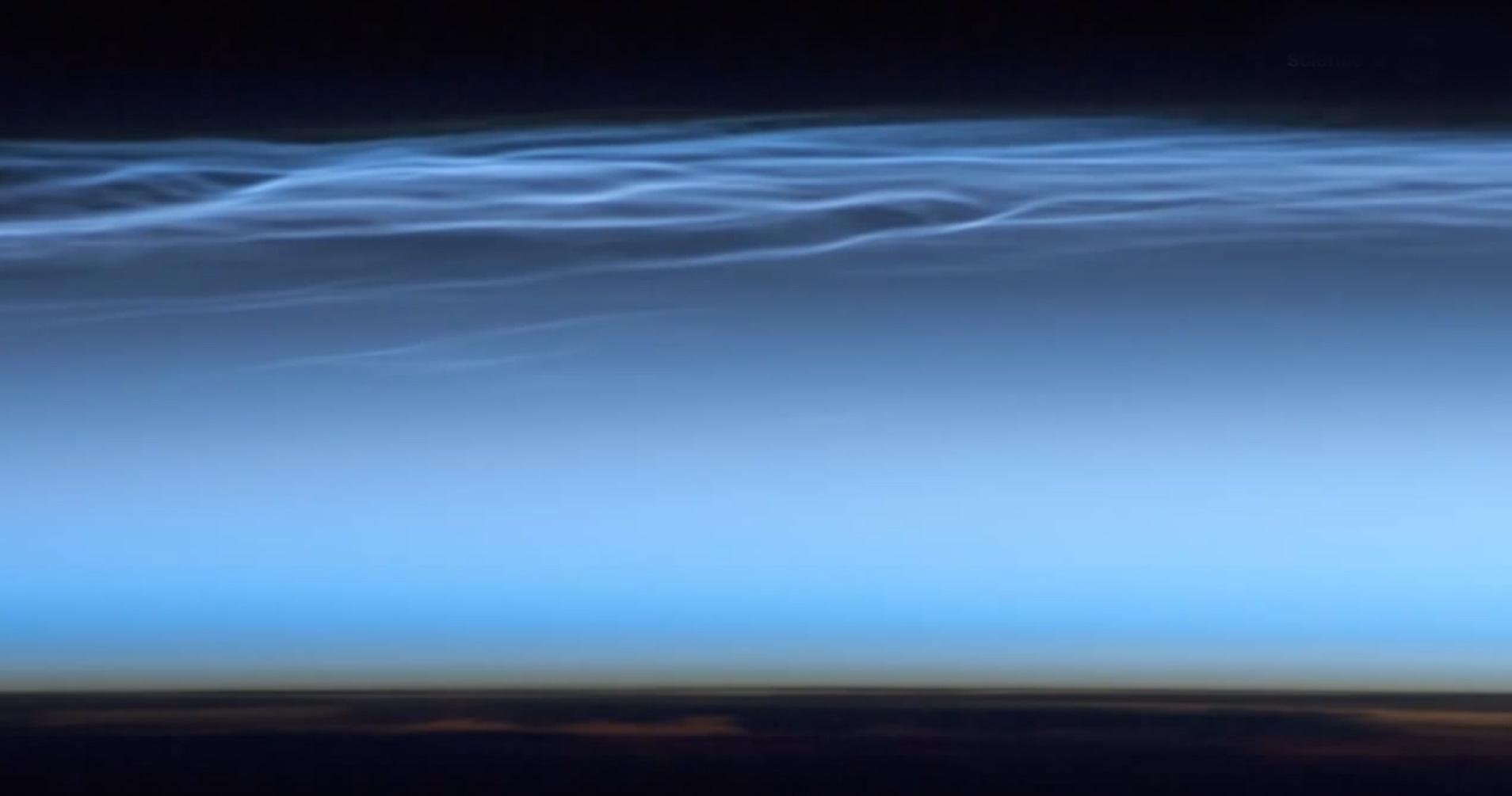 Electric blue clouds appear over antarctica nasa earth antarctic noctilucent clouds publicscrutiny Images