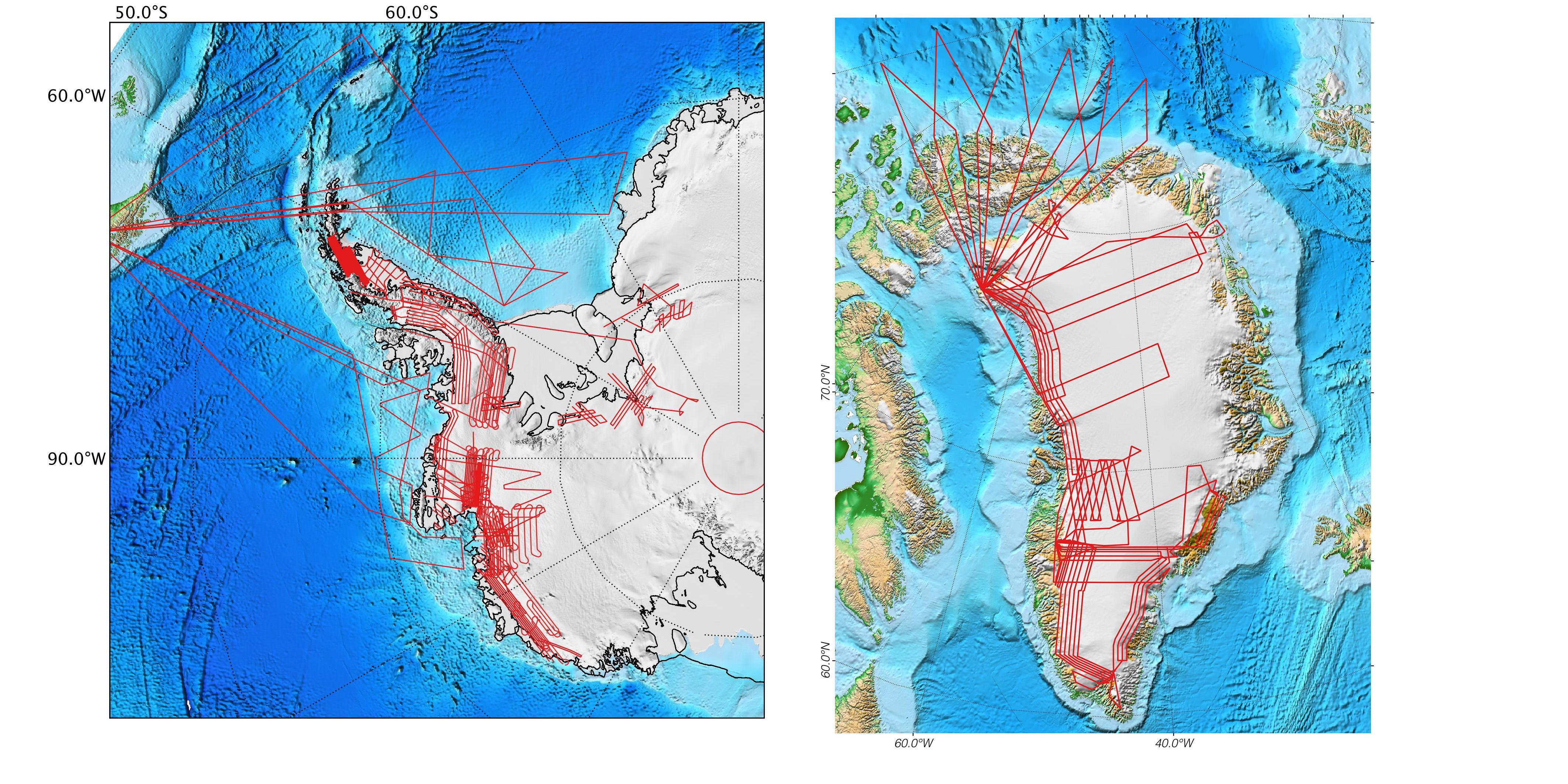 nasa data peers into greenland s ice sheet nasa