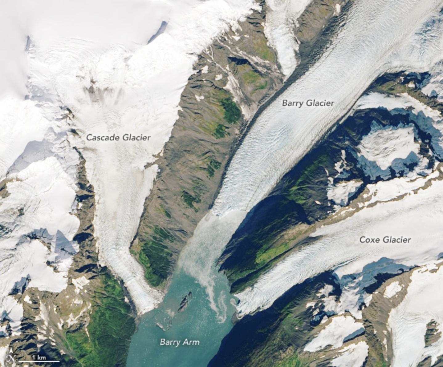 Image: Retreating Glacier Presents Landslide Threat, Tsunami Risk in Alaskan Fjord