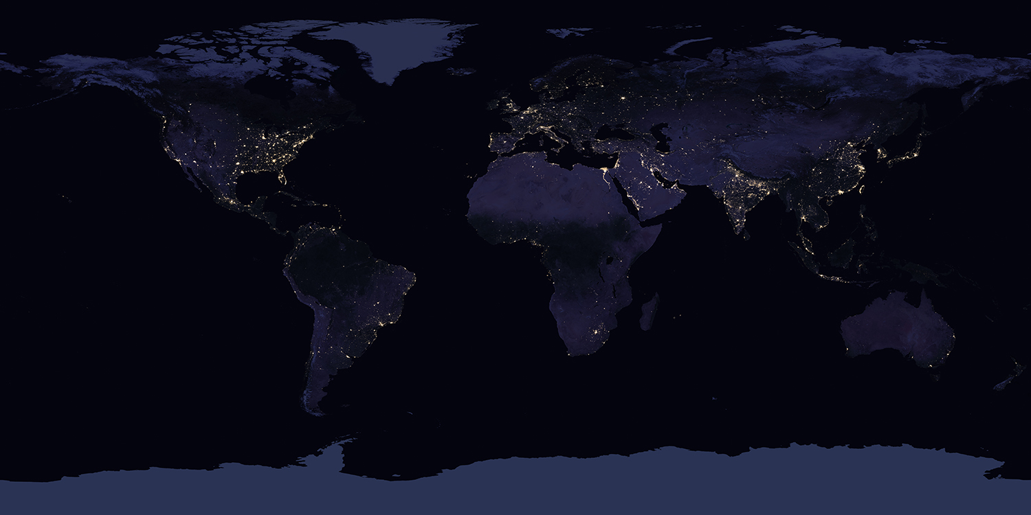 New Night Lights Maps Open Up Possible Real-Time ... on google maps, satellite map of north america, insurance maps,