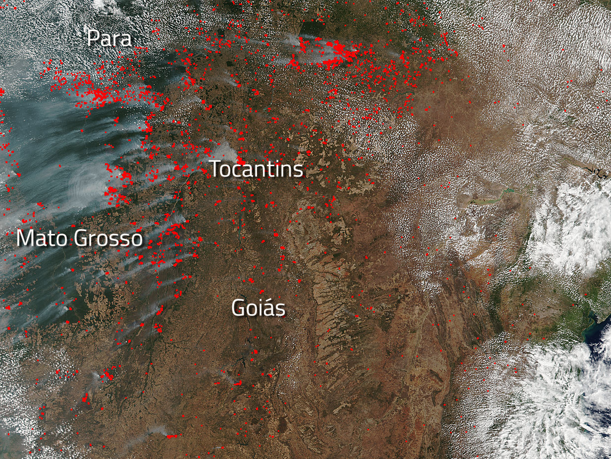 Fires In Brazil Point To Active Fire Season