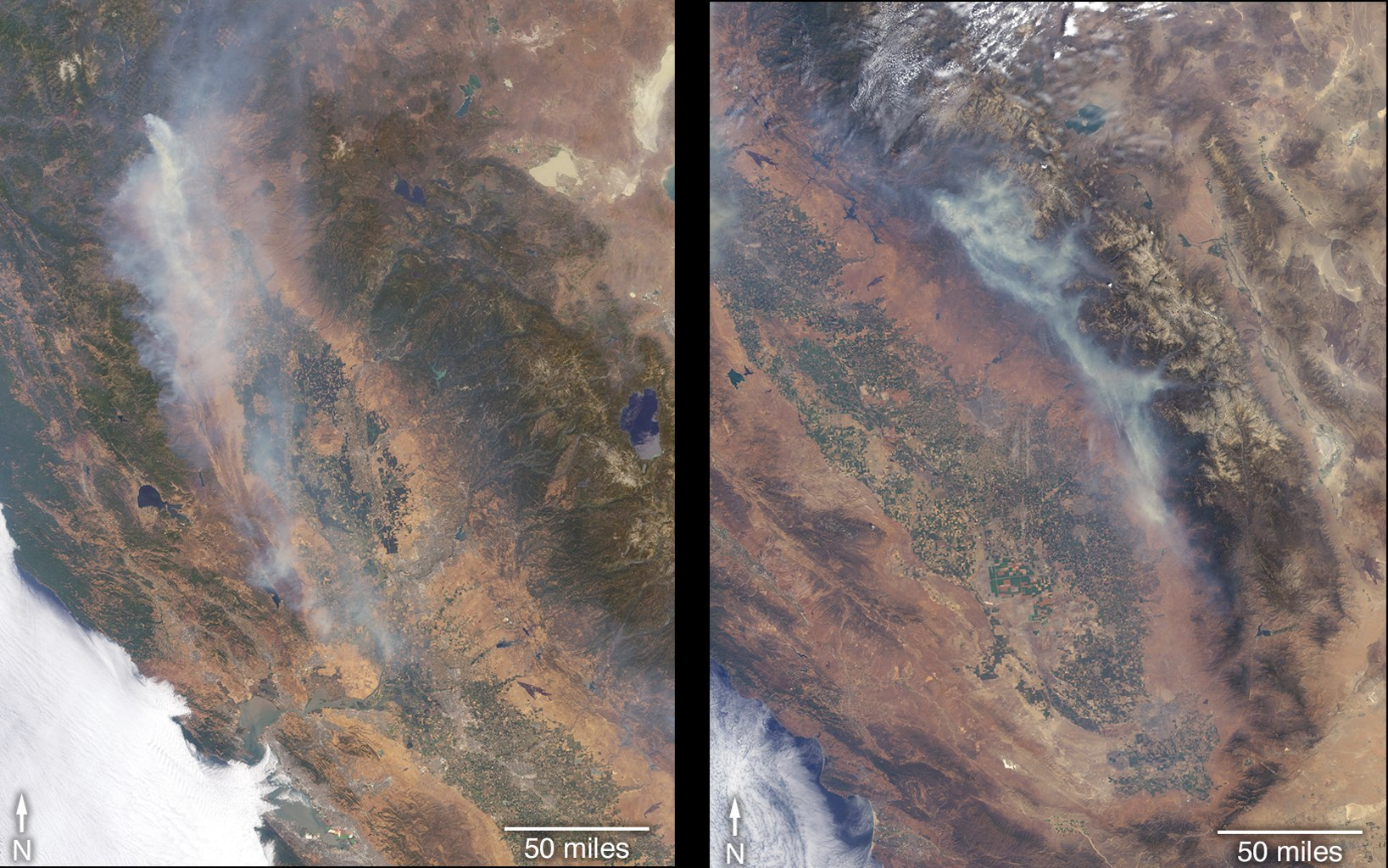 Satellite Views Fires Raging in California | NASA